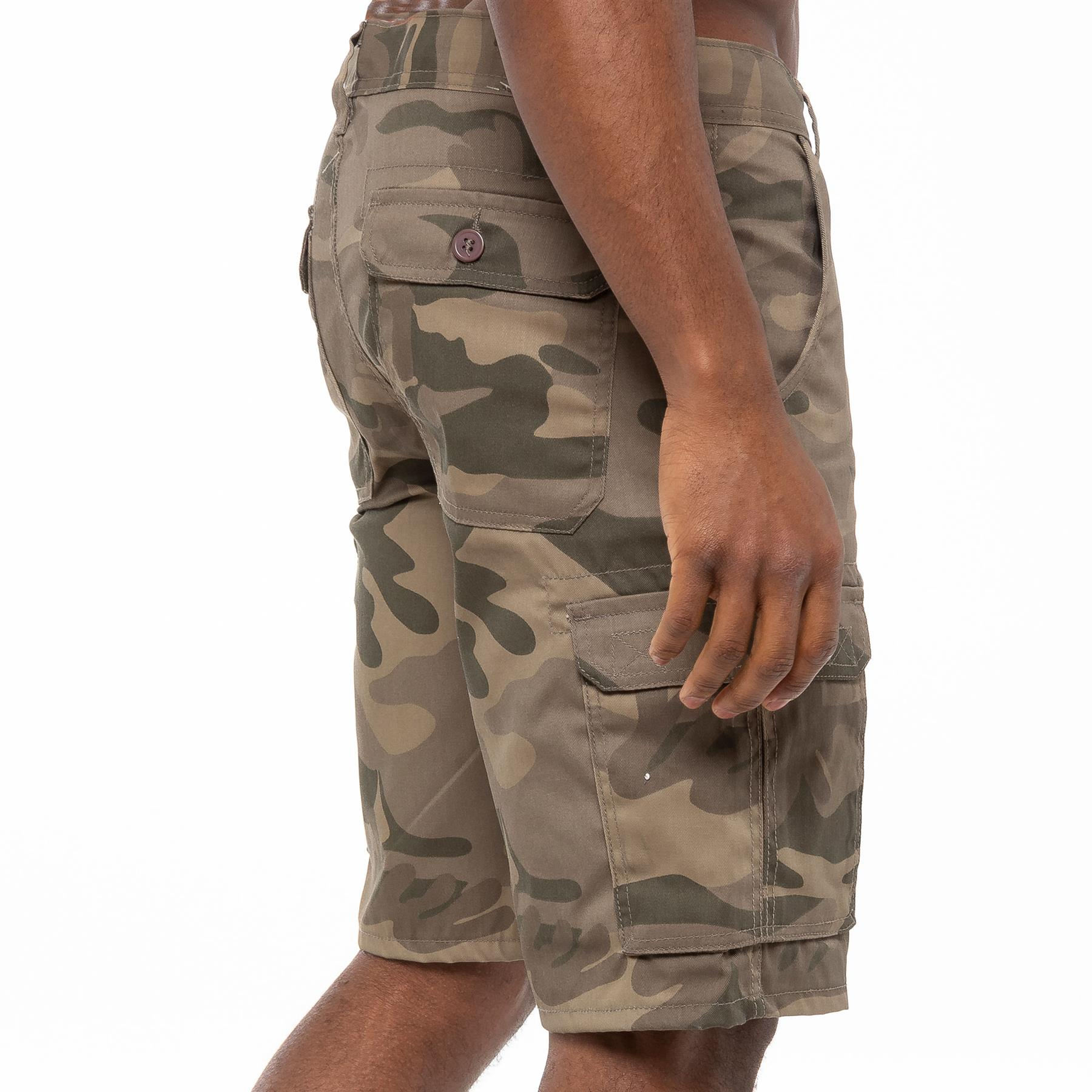 thumbnail 27 - Kruze Jeans Mens Army Combat Shorts Camouflage Cargo Casual Camo Work Half Pants