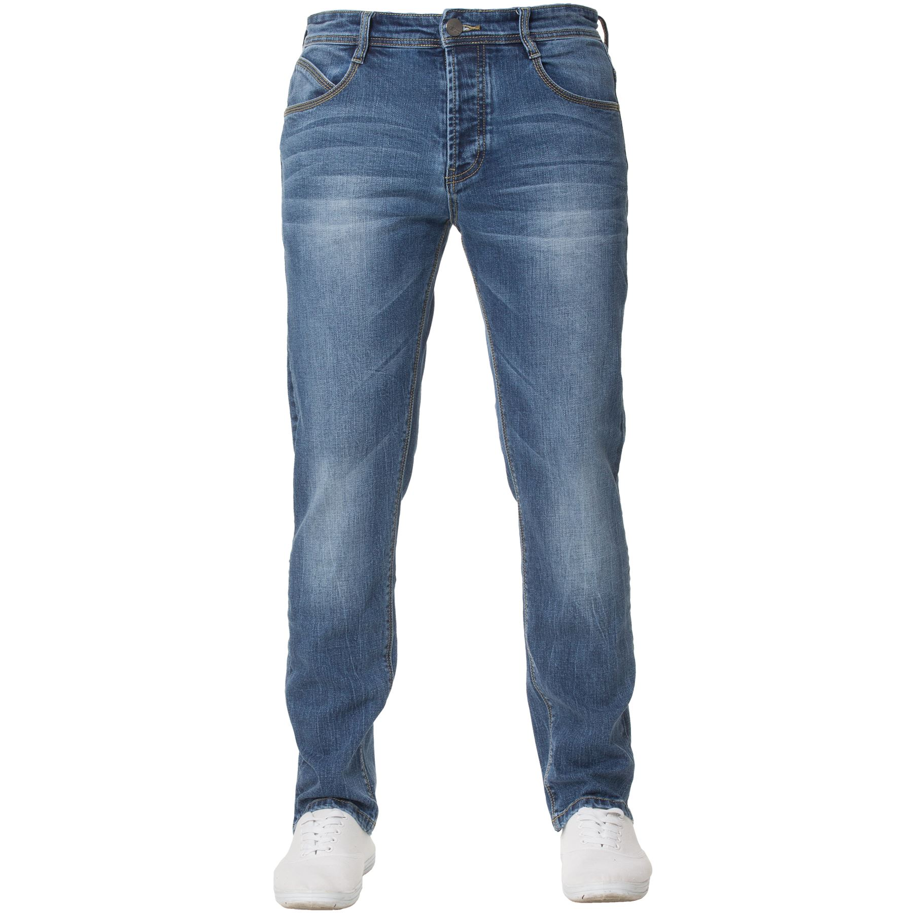 Eto-Designer-Mens-Tapered-Jeans-Slim-Fit-Stretch-Denim-Trouser-Pants-All-Waists thumbnail 5