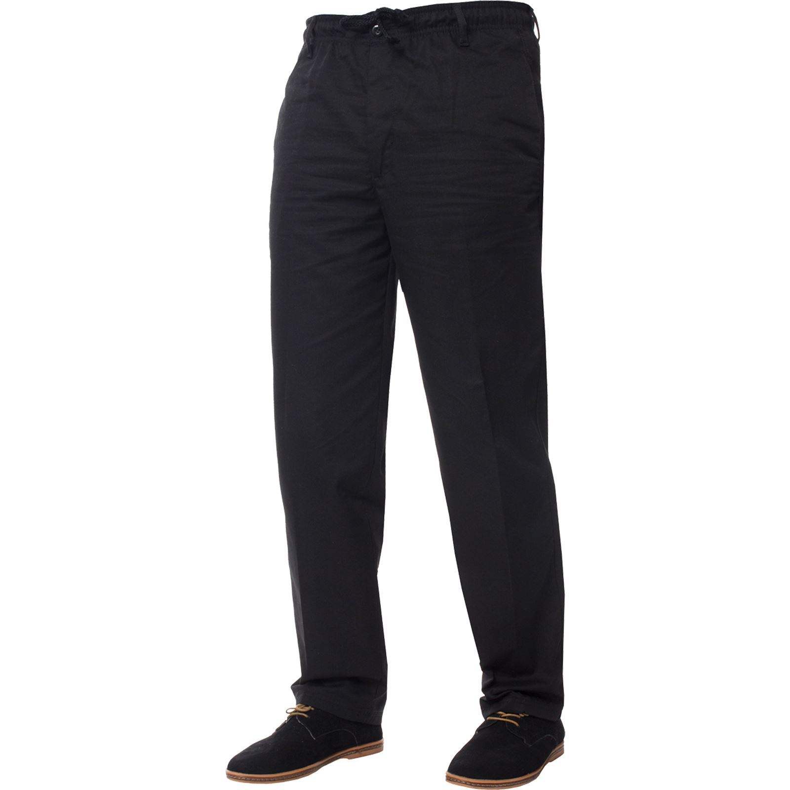 Mens-Rugby-Trousers-Kruze-Elasticated-Waist-Drawstring-Pants-Regular-King-Sizes thumbnail 5