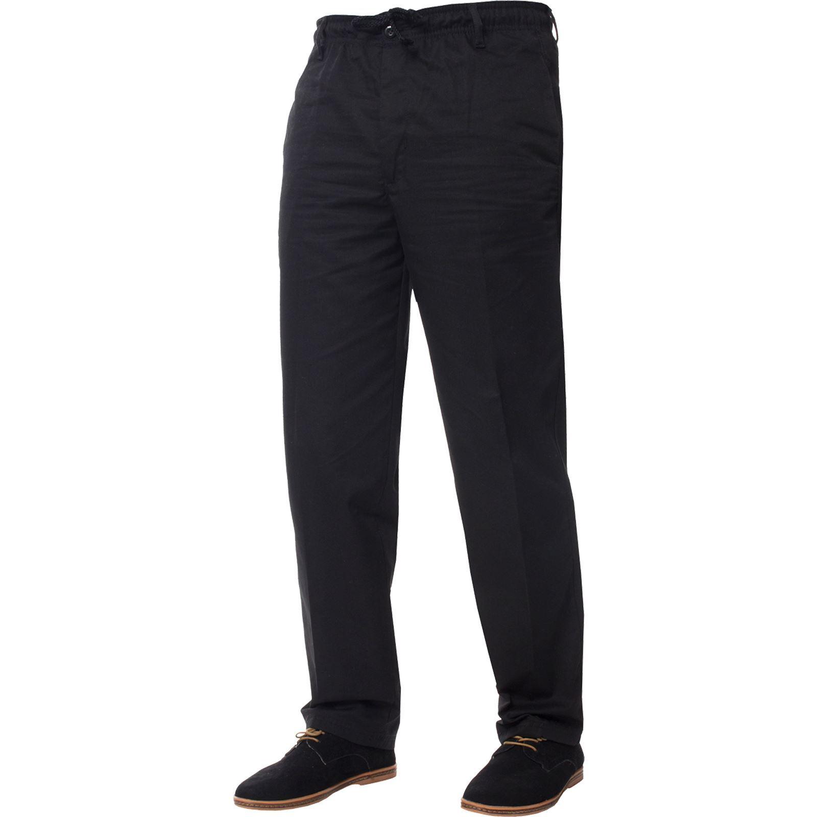 Para-Hombres-Pantalones-De-Rugby-Kruze-cintura-elastica-con-cordon-pantalones-REGULAR-King-Tamanos miniatura 5