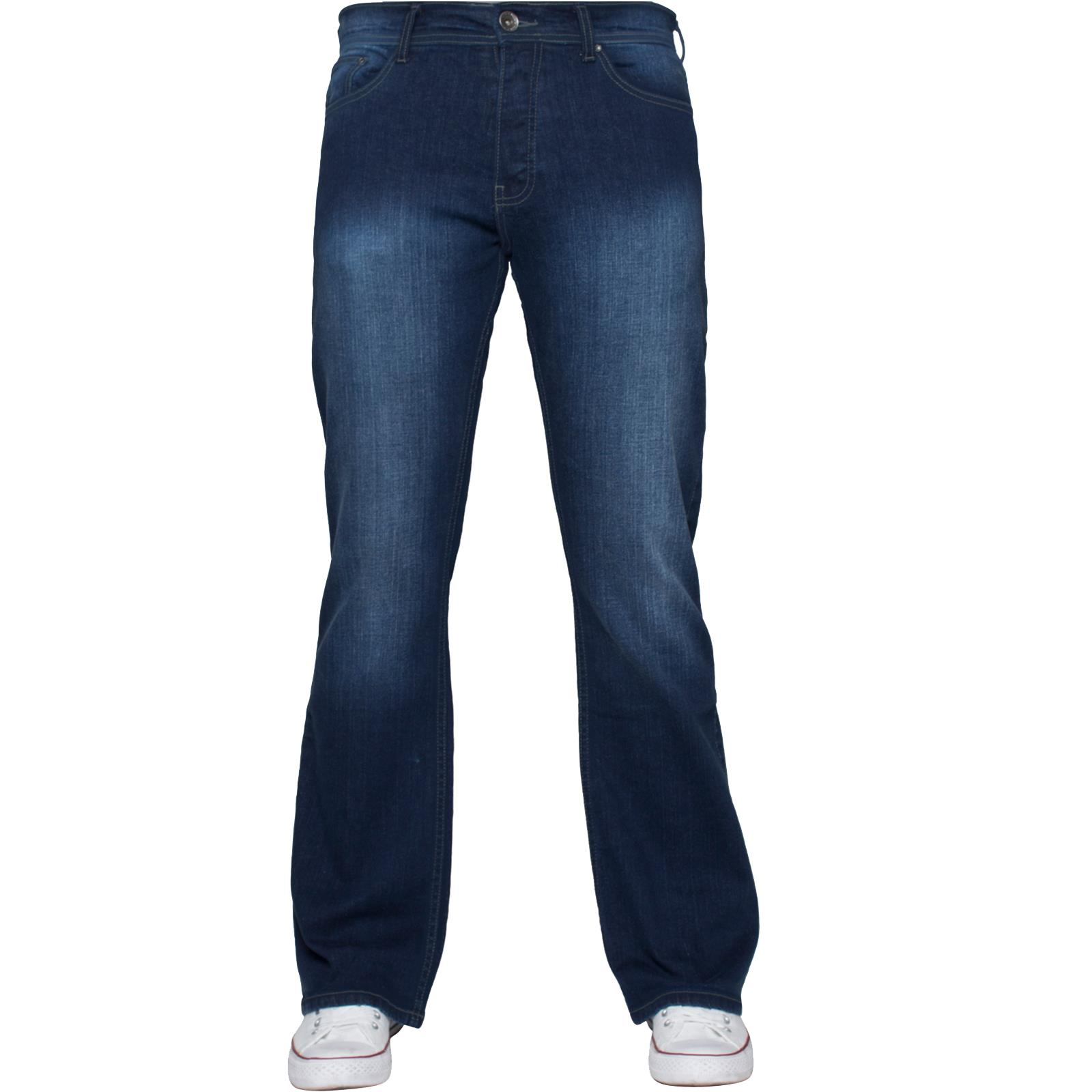 Enzo-Mens-Jeans-Big-Tall-Leg-King-Size-Denim-Pants-Chino-Trousers-Waist-44-034-60-034 miniature 63