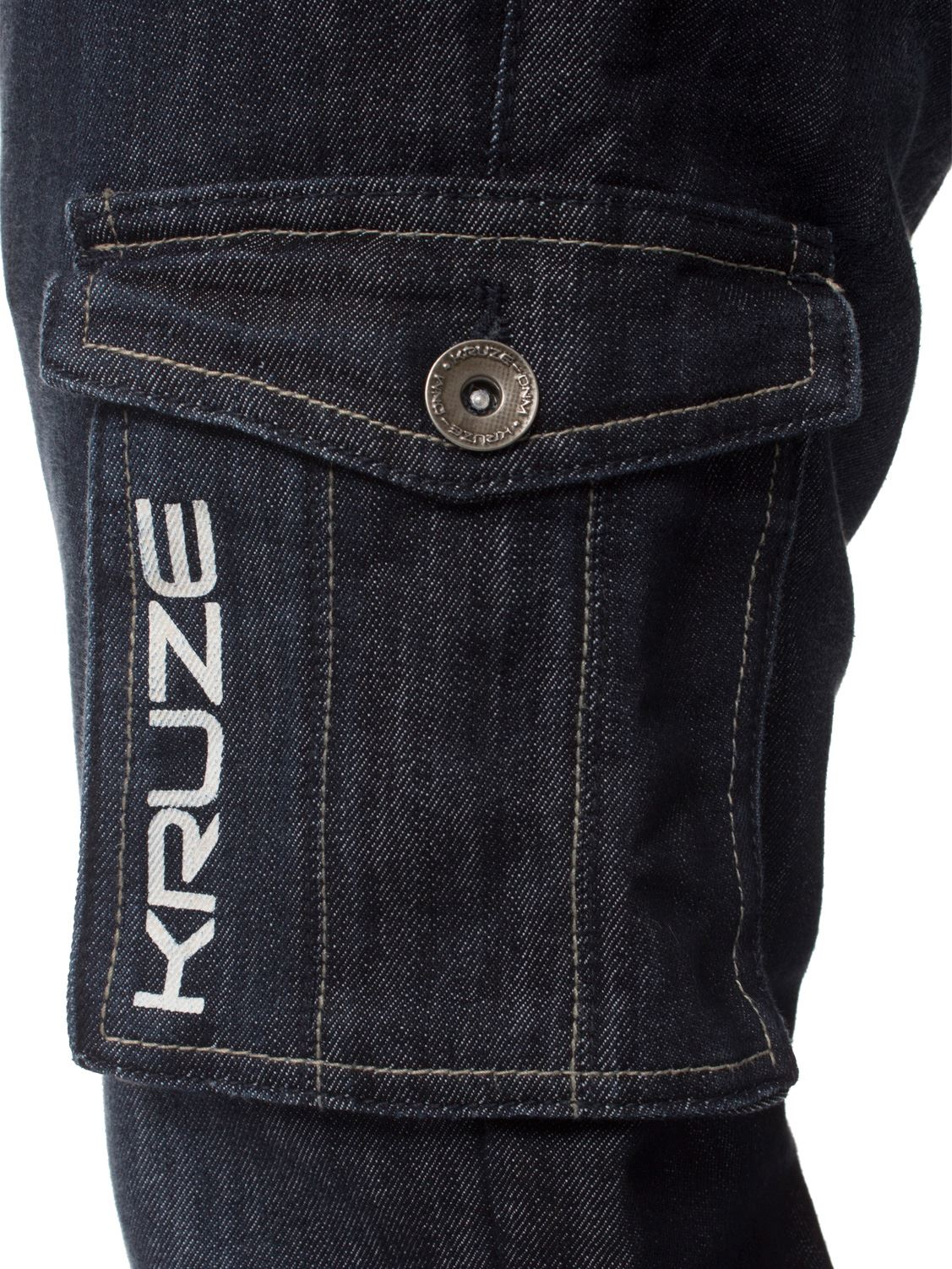 Grandes-jeans-para-hombre-de-combate-de-Kruze-Rey-Alto-Pierna-Cargo-Pantalones-Jeans-Pantalones miniatura 16