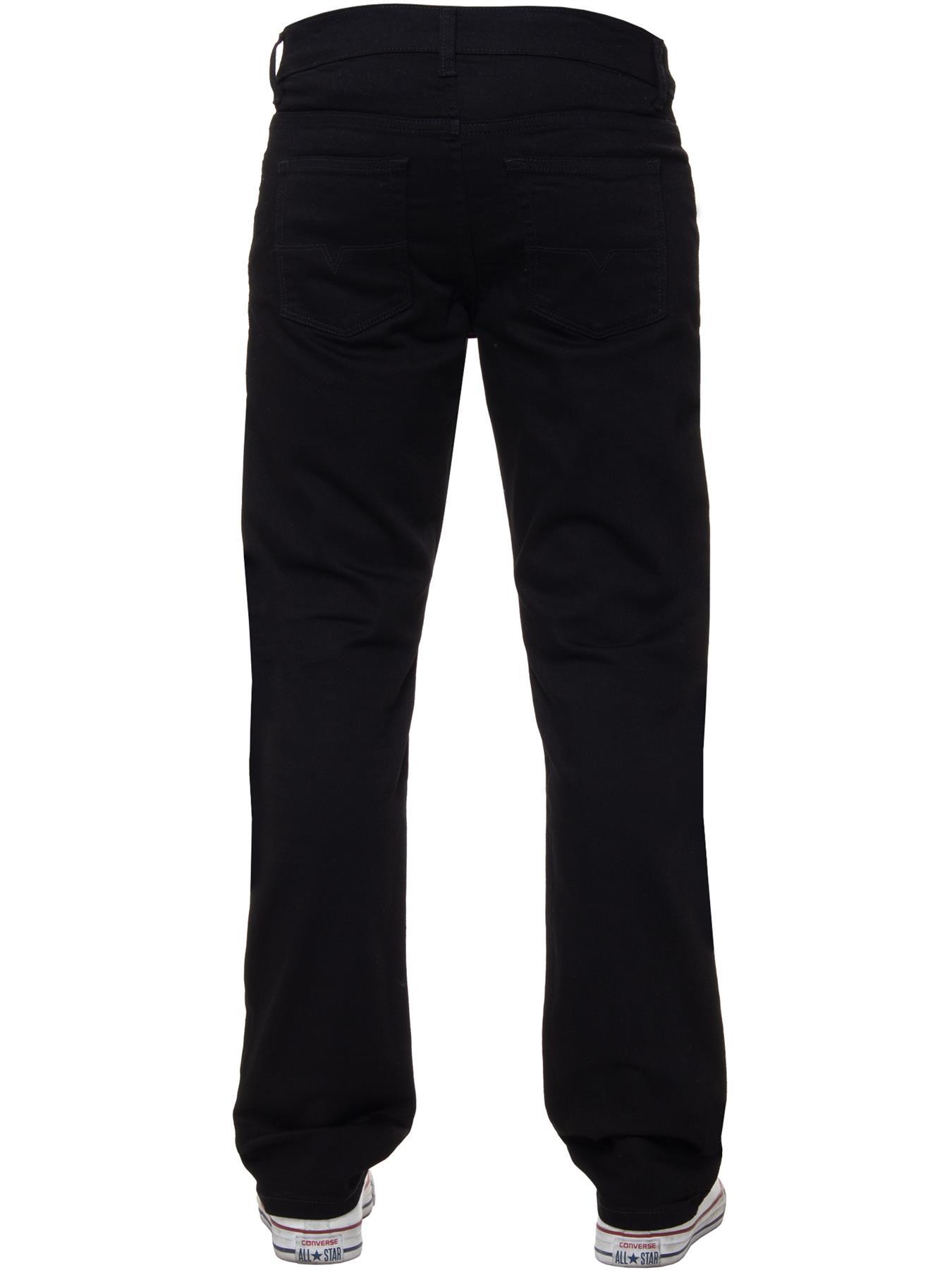 Para-Hombre-Pierna-Recta-Bootcut-Stretch-Denim-Regulares-Pantalon-de-trabajo-Kruze-Todas-Cinturas miniatura 25