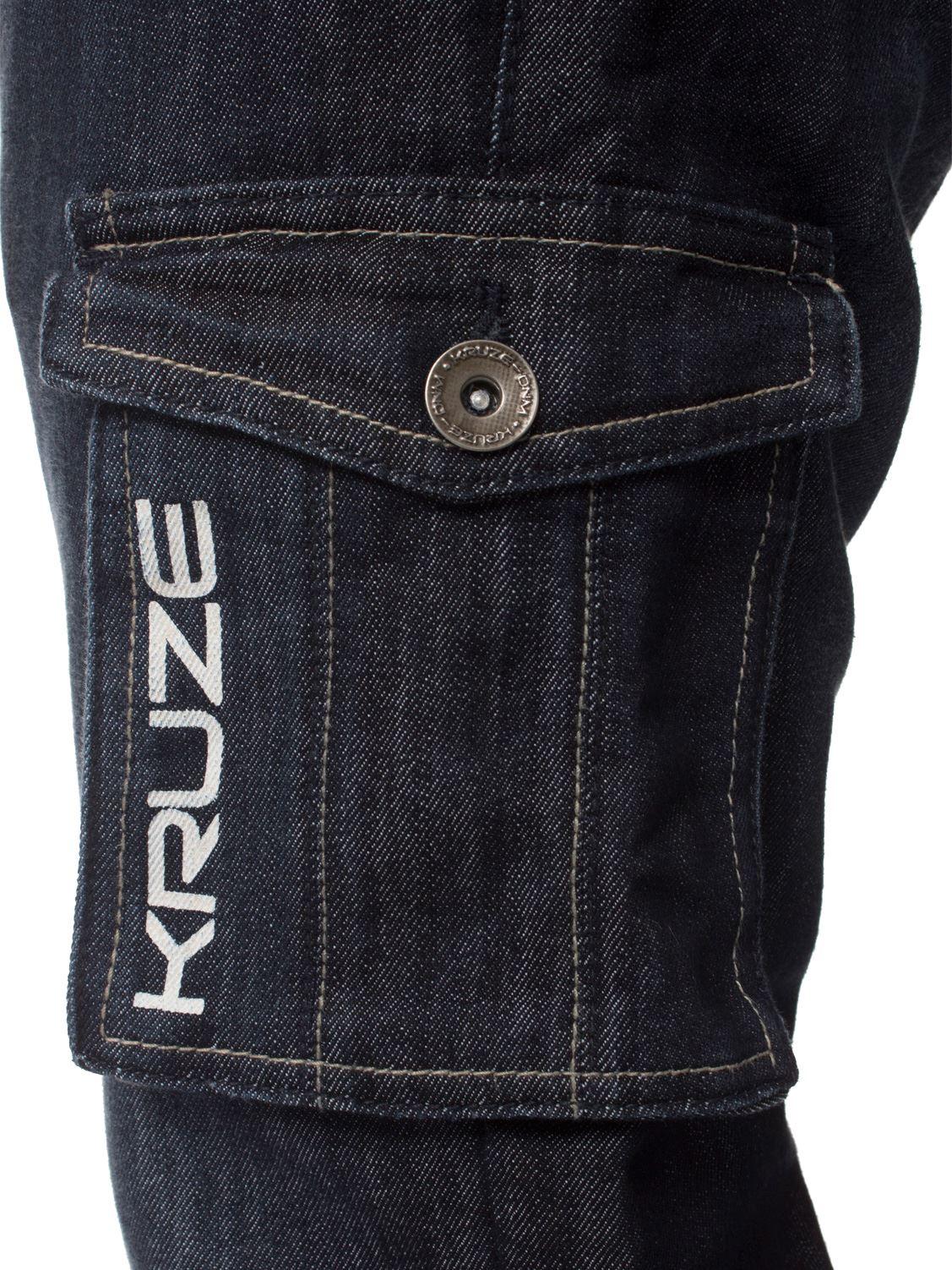 Mens-Jeans-Combate-Carga-Informal-Kruze-Trabajo-Pantalones-Cintura-Tallas-Denim-Pantalones-de-vestir miniatura 24