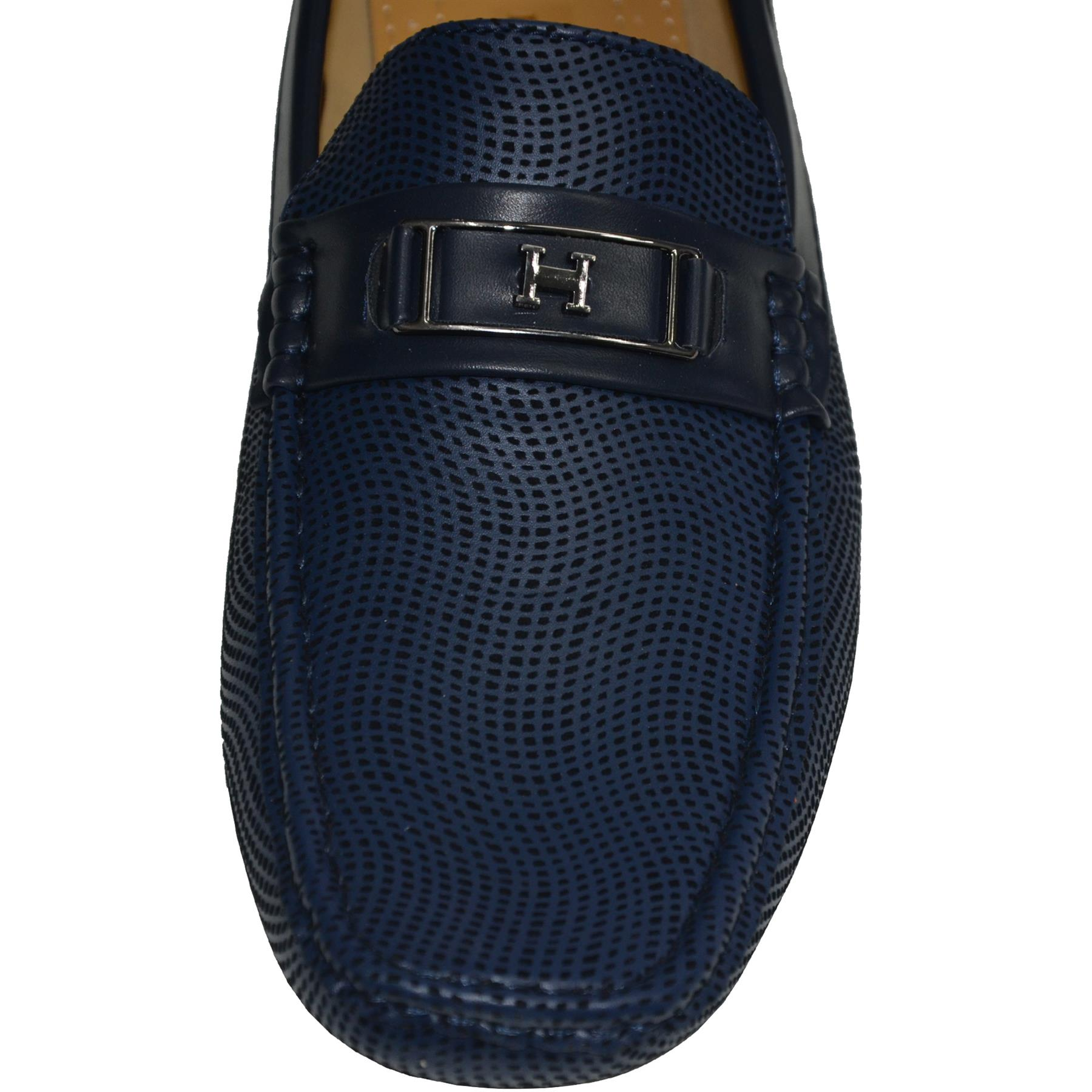 Mens-Slip-Ons-Shoes-Boat-Deck-Driving-Smart-Buckle-Moccasins-Suede-Look-Loafers thumbnail 14