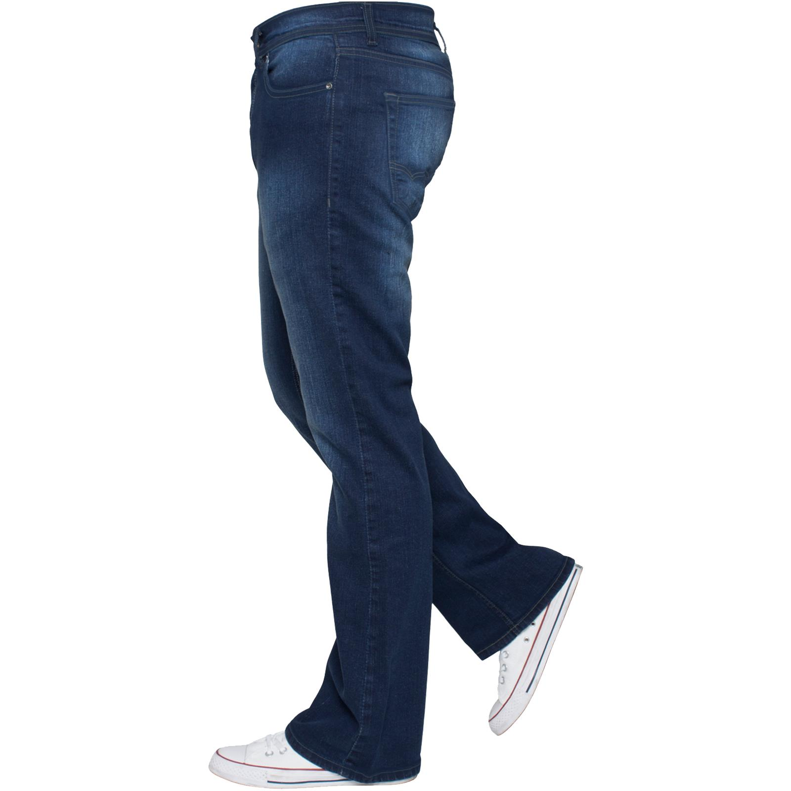 Enzo-Mens-Jeans-Big-Tall-Leg-King-Size-Denim-Pants-Chino-Trousers-Waist-44-034-60-034 miniature 62