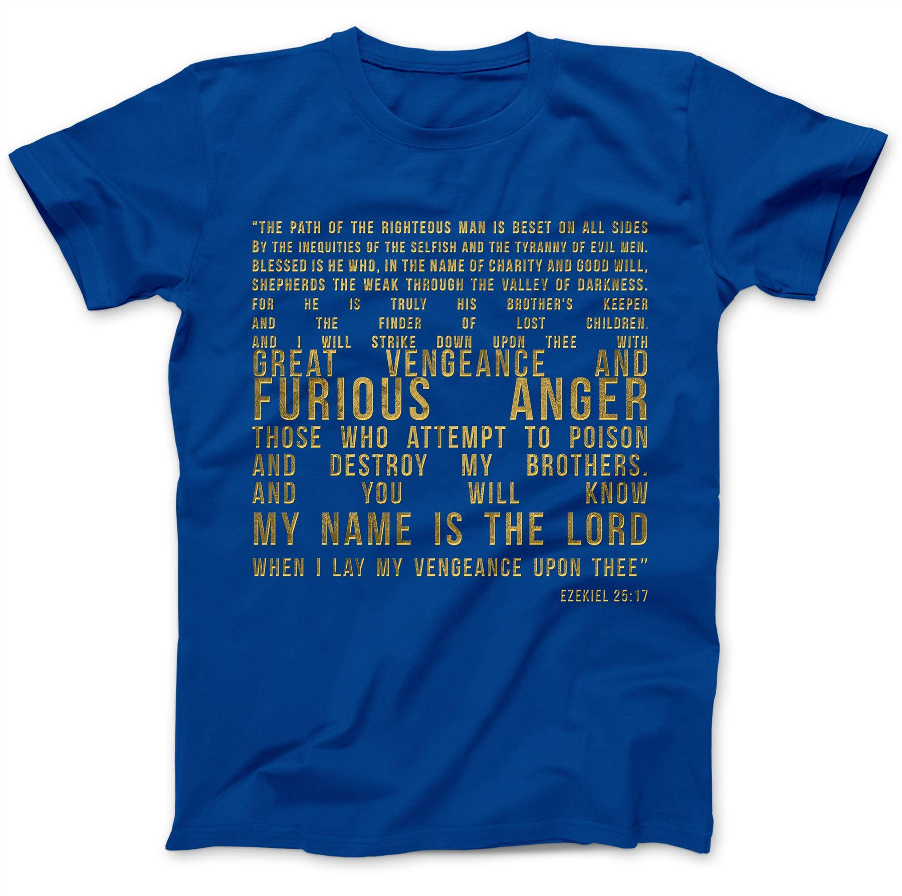 Ezekiel-25-17-T-Shirt-100-Premium-Cotton-Samuel-L-Jackson-Pulp-Fiction-Quote thumbnail 28