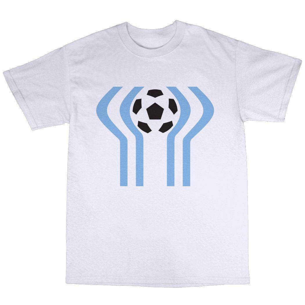 Argentina 1978 T Shirt 100 Cotton 78 World Cup Retro Football Fashion Big Size 2xl
