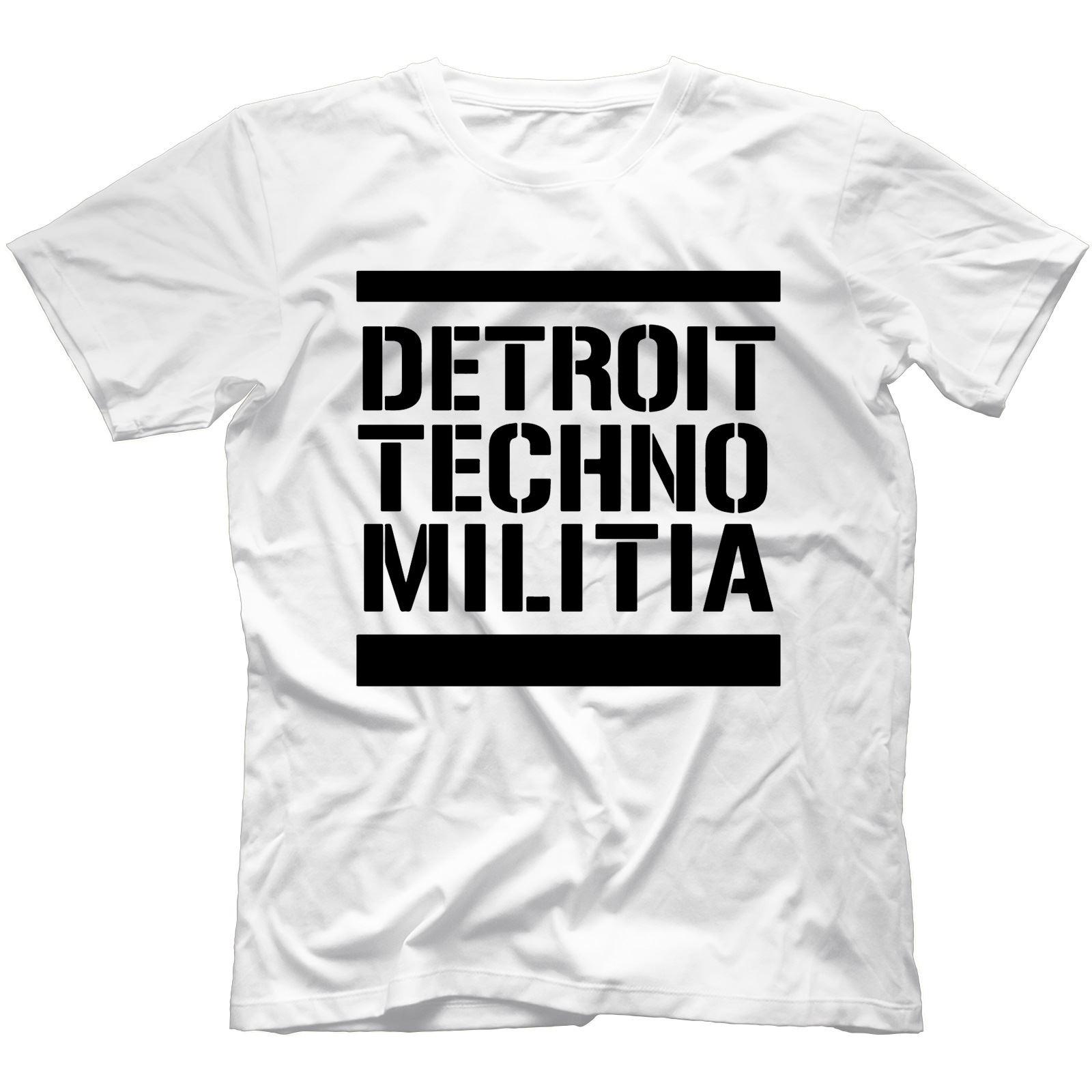 Detroit-Techno-Militia-T-Shirt-100-Cotton-Vinyl-909-Underground-Resistance Indexbild 42