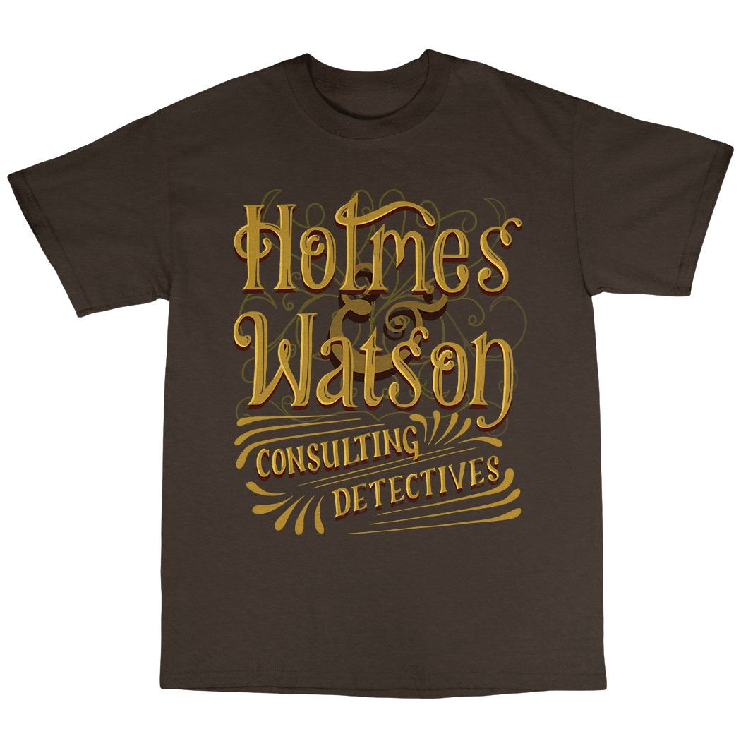Holmes /& Watson T-Shirt Premium Cotton Dr Watson Moriarty Sherlock Holmes