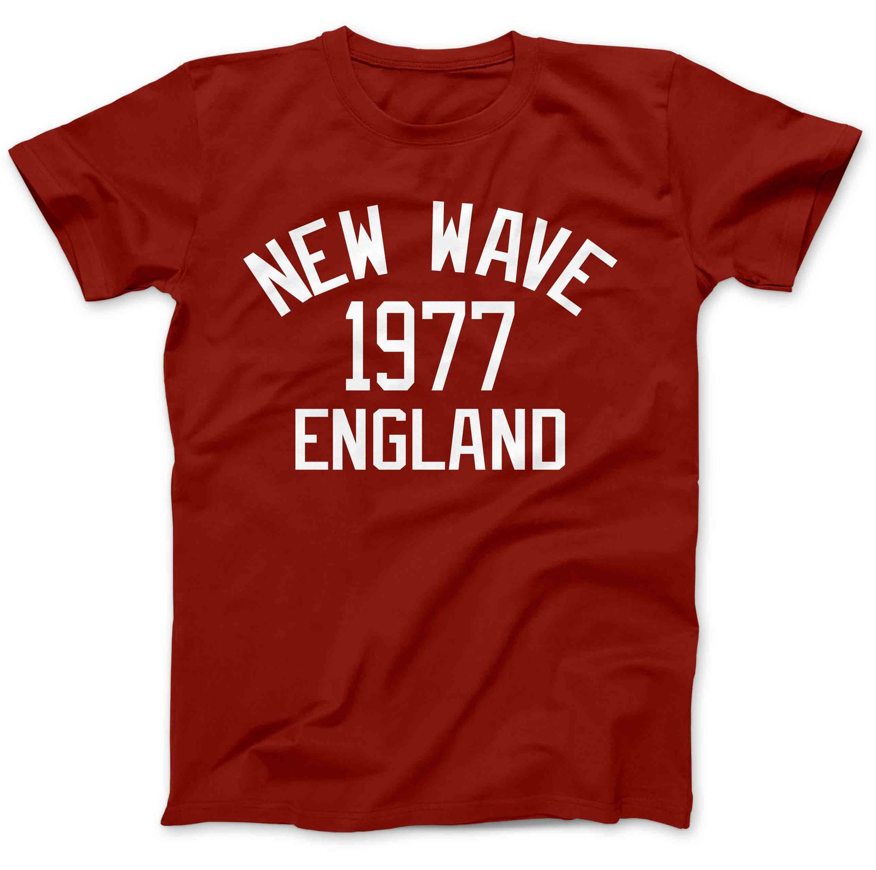 a40a3045 New Wave Music 1977 T-Shirt 100% Premium Cotton Post-Punk Rock ...