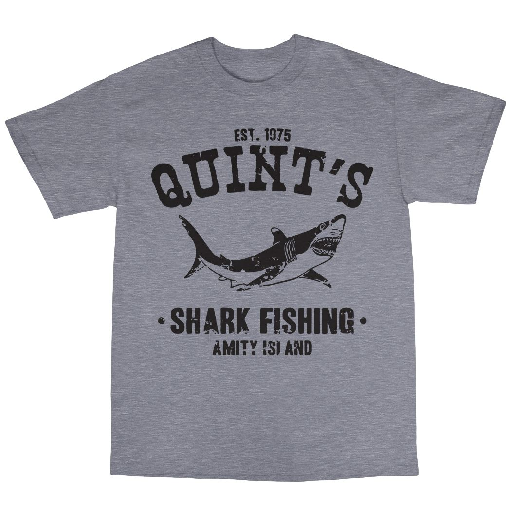Quint/'s Shark Fishing T-Shirt 100/% Cotton Jaws Inspired Amity Island 1975