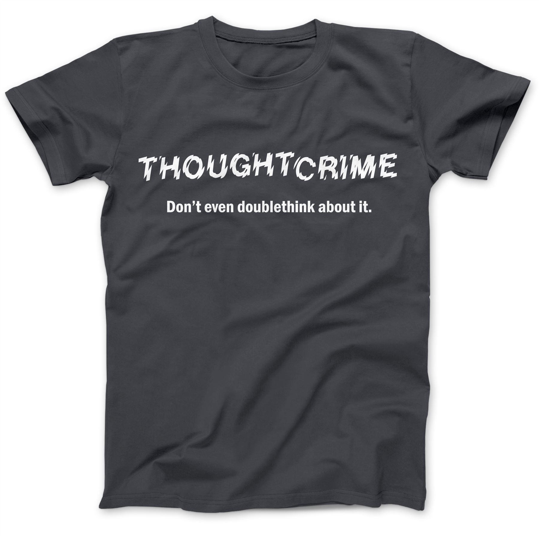 1984-Thought-Crime-George-Orwell-T-Shirt-100-Premium-Cotton-Animal-Farm miniatuur 9