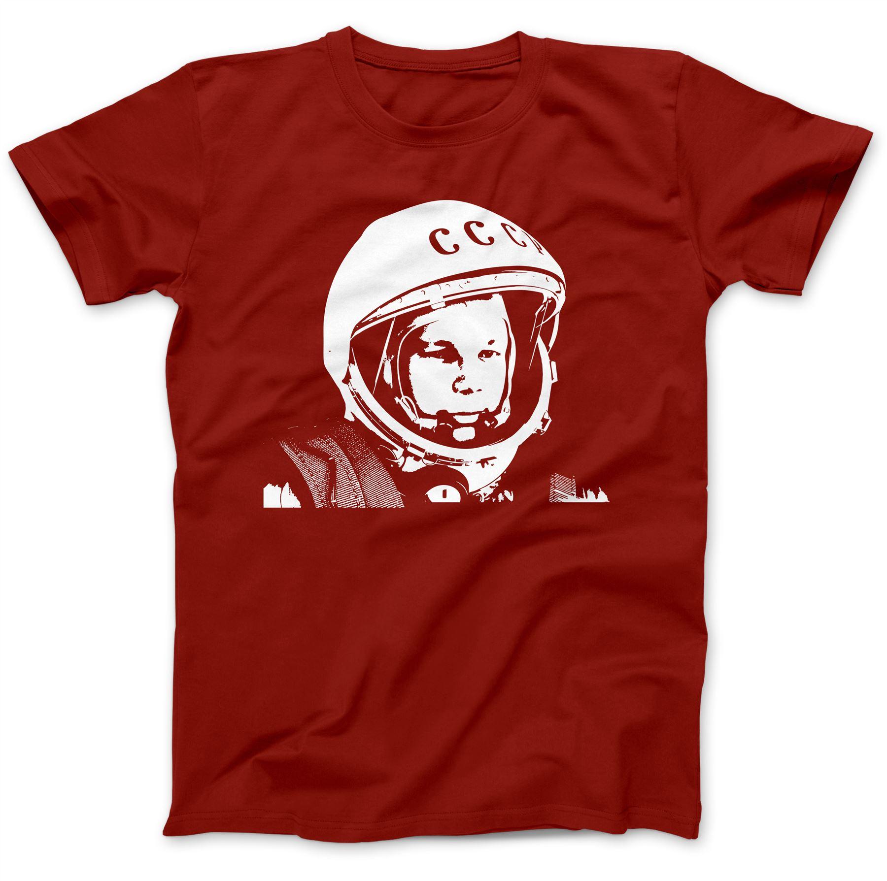New White CCCP Union Soviétique Russie T-Shirt Imprimé 100/% coton