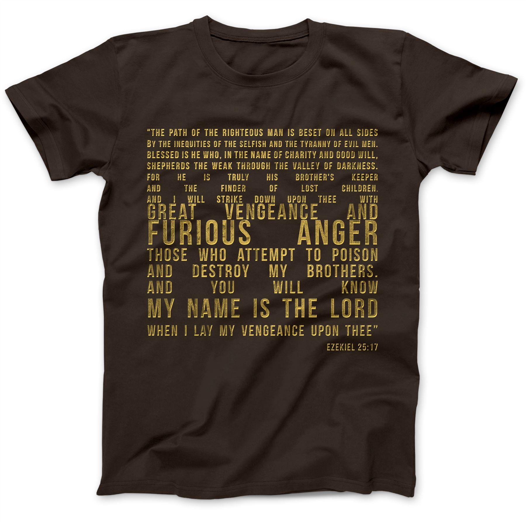 Ezekiel-25-17-T-Shirt-100-Premium-Cotton-Samuel-L-Jackson-Pulp-Fiction-Quote thumbnail 10