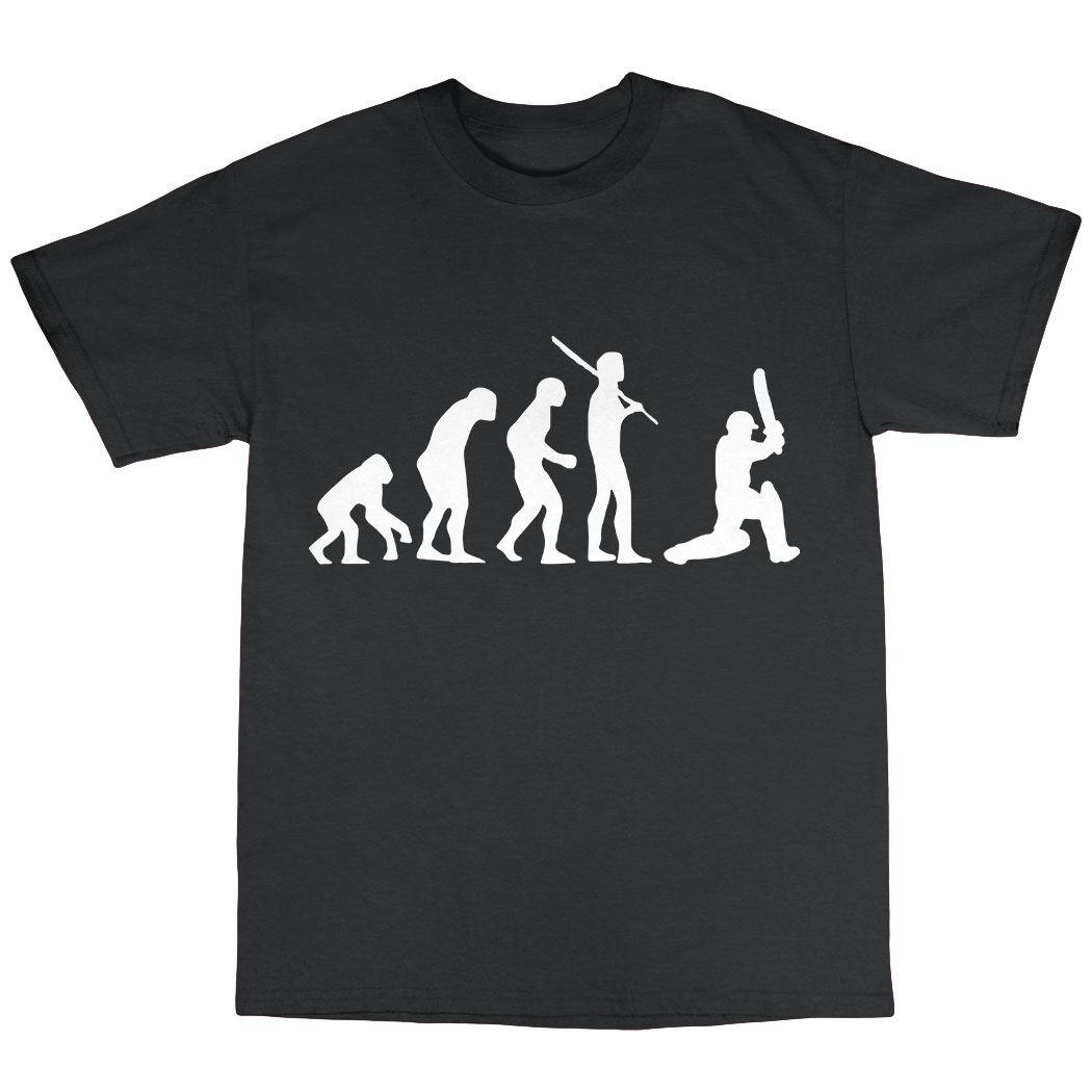 "batteur /""evolution of man /'t-shirt Cricket"