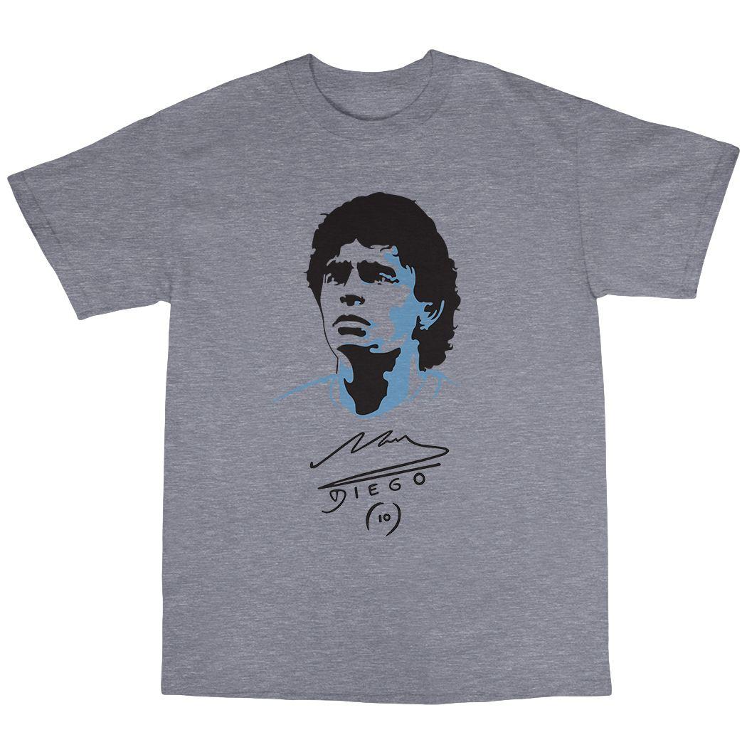 Diego Maradona T-Shirt 100% Cotton Football Argentina ...