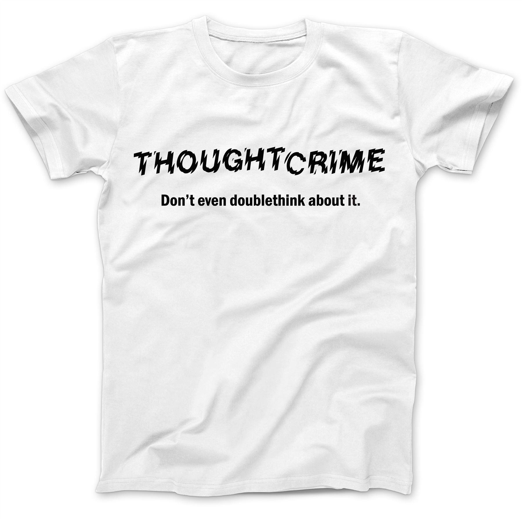 1984-Thought-Crime-George-Orwell-T-Shirt-100-Premium-Cotton-Animal-Farm miniatuur 23