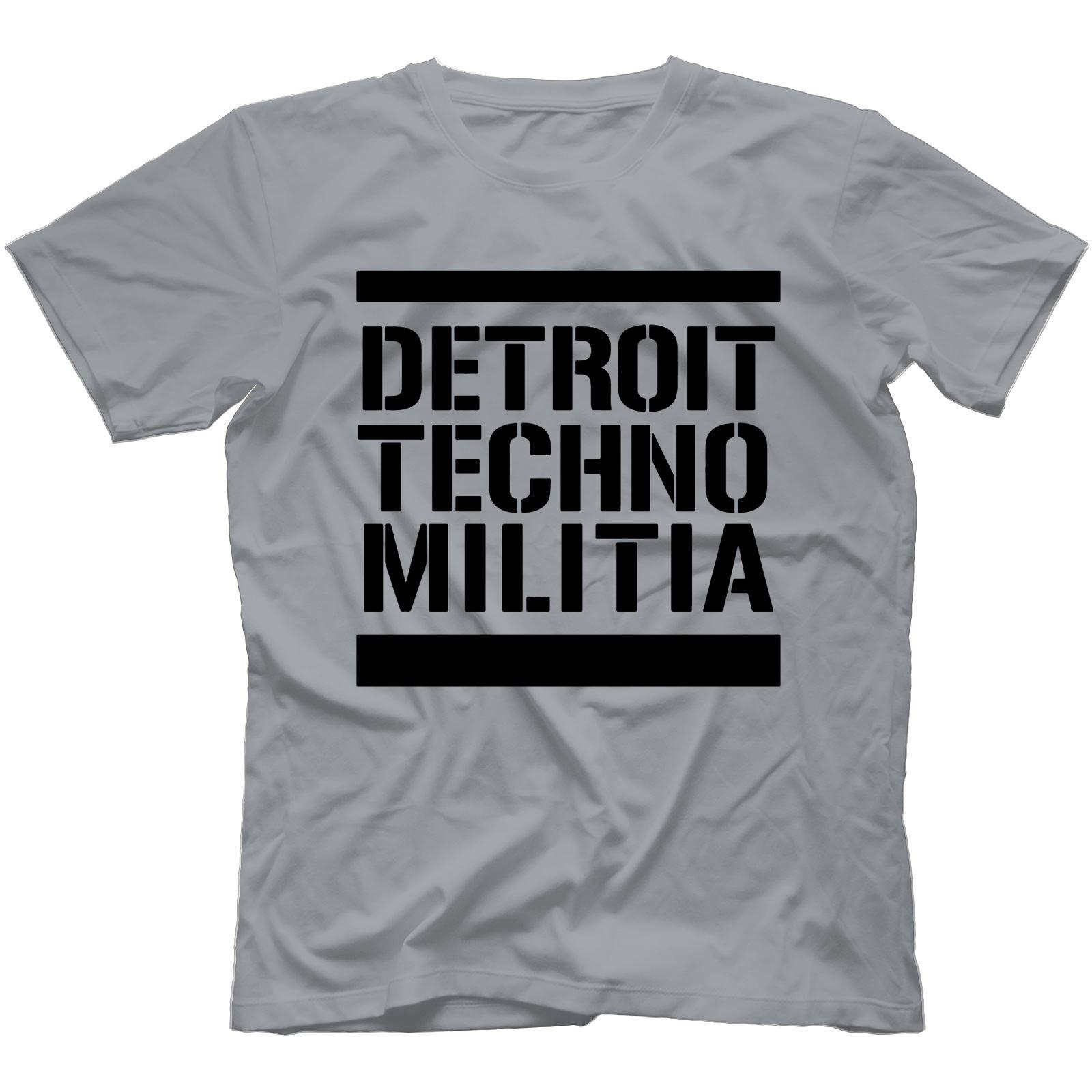 Detroit-Techno-Militia-T-Shirt-100-Cotton-Vinyl-909-Underground-Resistance Indexbild 7