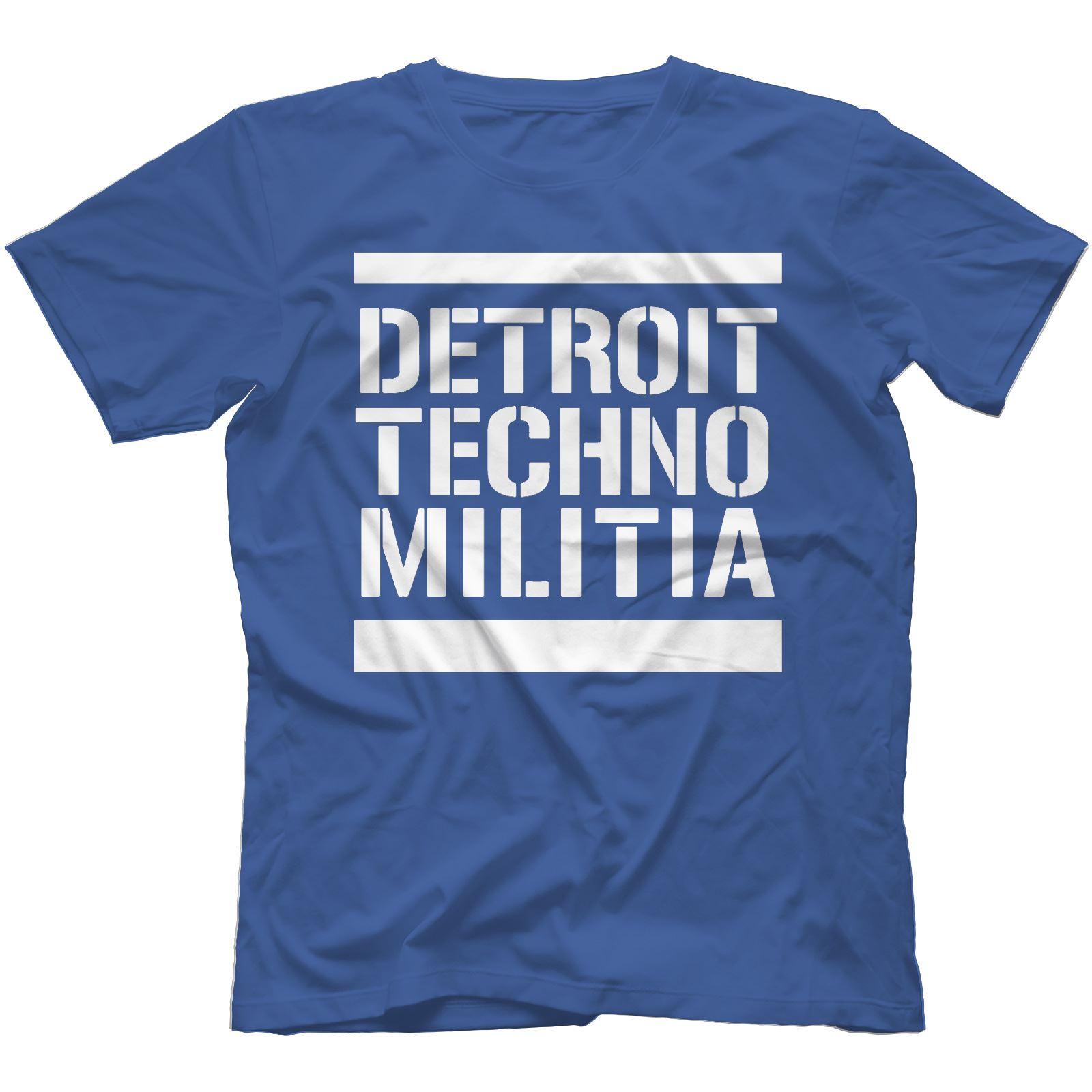 Detroit-Techno-Militia-T-Shirt-100-Cotton-Vinyl-909-Underground-Resistance Indexbild 37