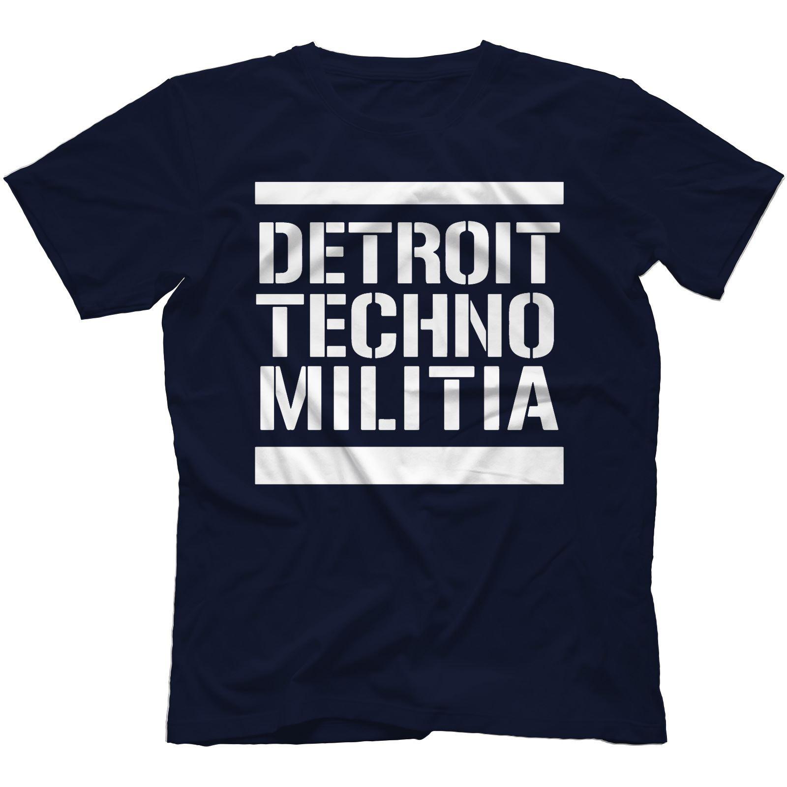 Detroit-Techno-Militia-T-Shirt-100-Cotton-Vinyl-909-Underground-Resistance Indexbild 33