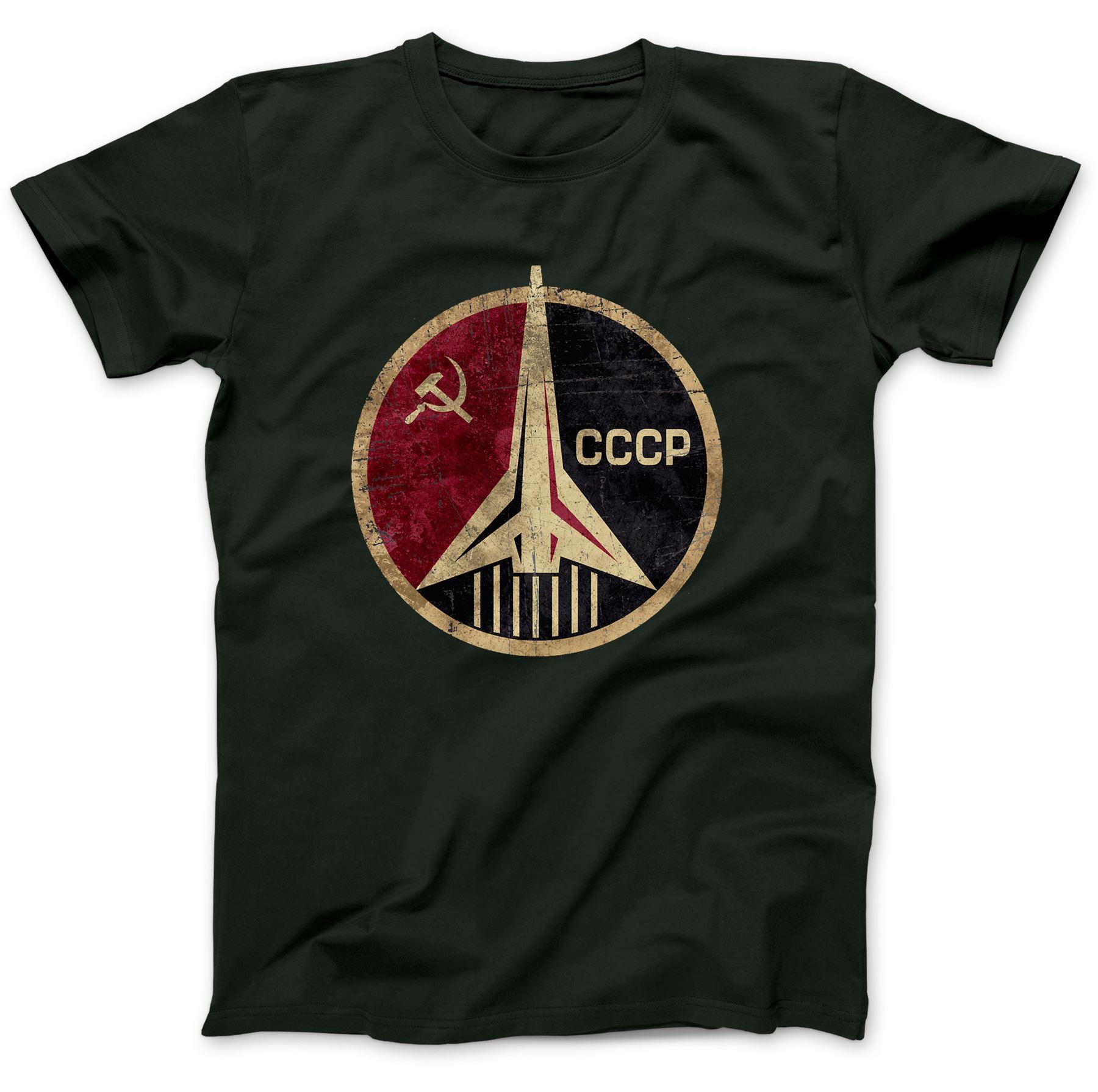 CCCP-URSS-SOVIETICO-RUSSO-T-shirt-100-Cotone-Premium-Falce-e-Martello