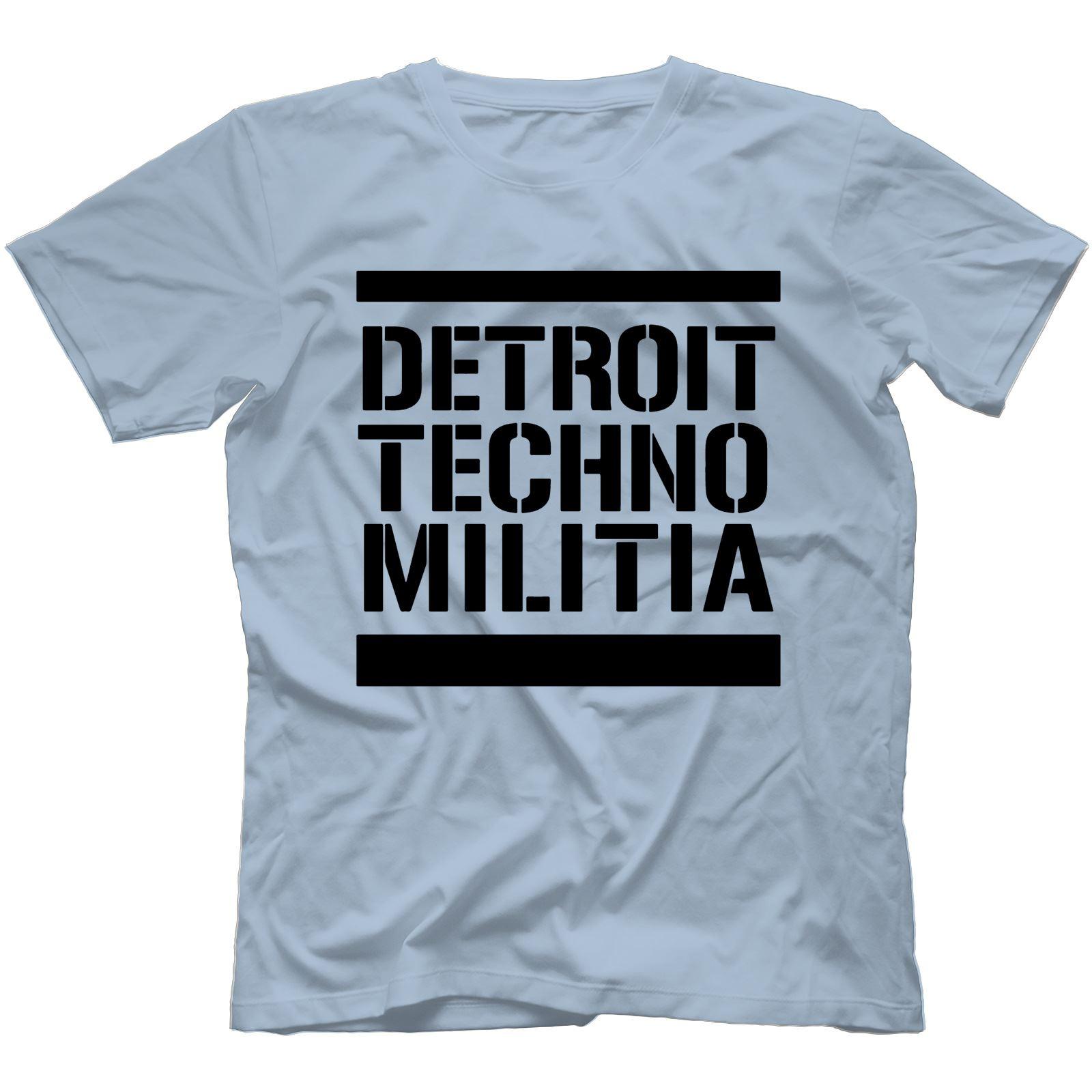 Detroit-Techno-Militia-T-Shirt-100-Cotton-Vinyl-909-Underground-Resistance Indexbild 27