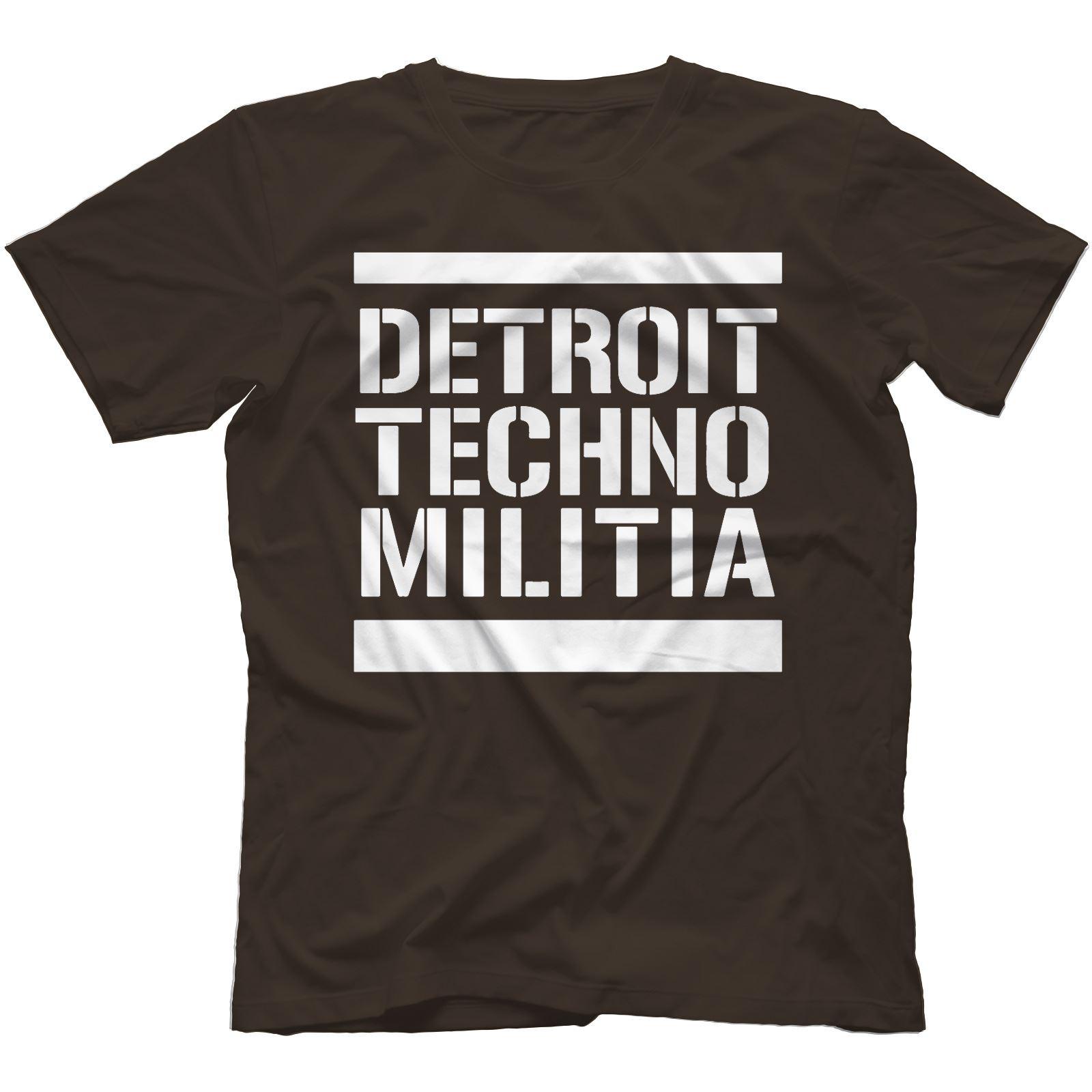 Detroit-Techno-Militia-T-Shirt-100-Cotton-Vinyl-909-Underground-Resistance Indexbild 22
