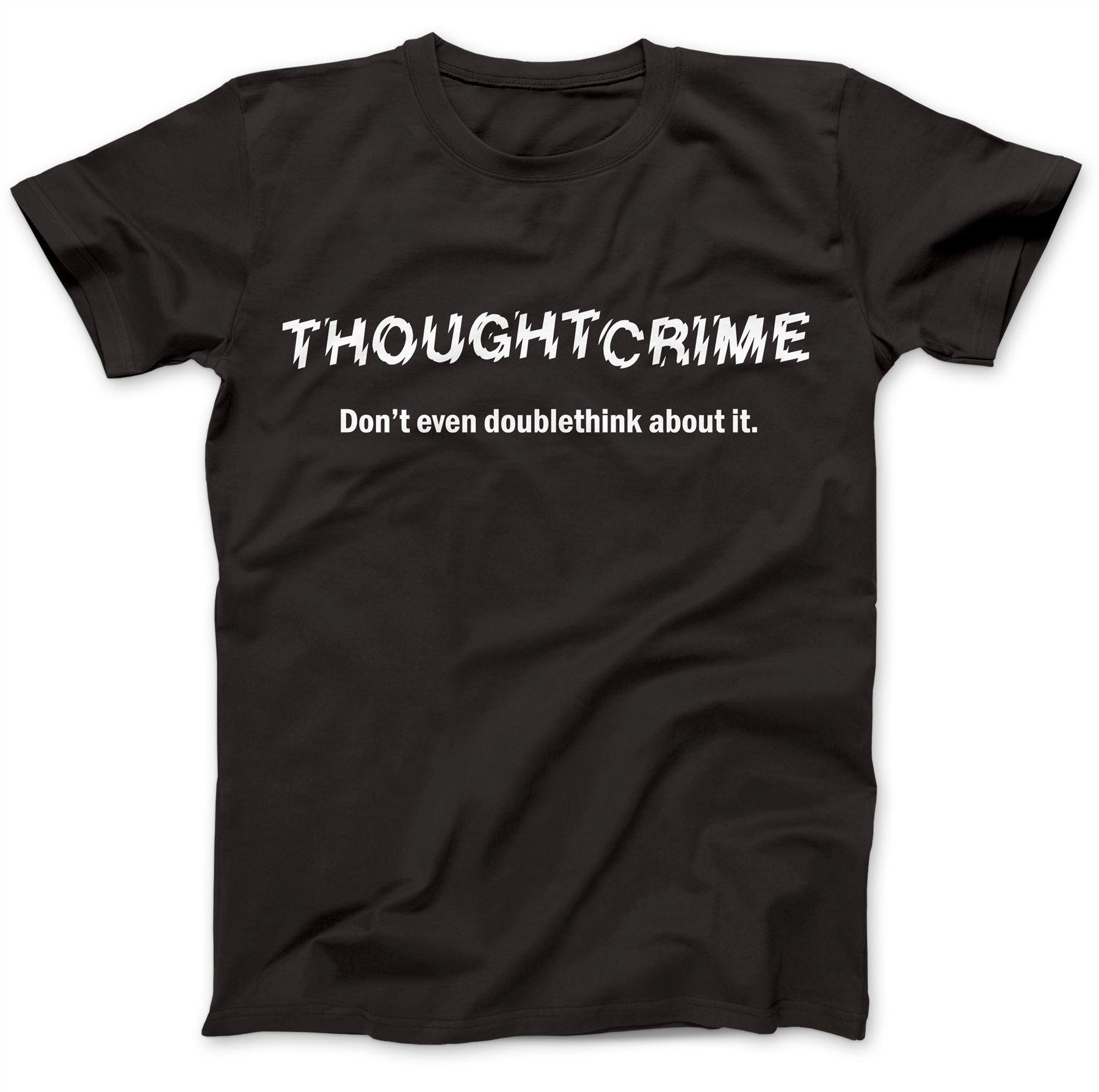 1984-Thought-Crime-George-Orwell-T-Shirt-100-Premium-Cotton-Animal-Farm miniatuur 3