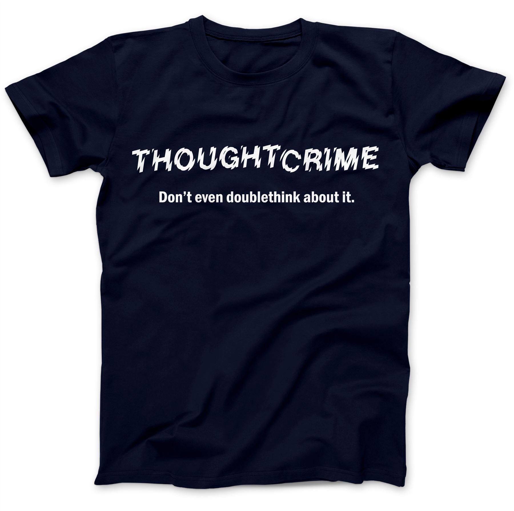 1984-Thought-Crime-George-Orwell-T-Shirt-100-Premium-Cotton-Animal-Farm miniatuur 19
