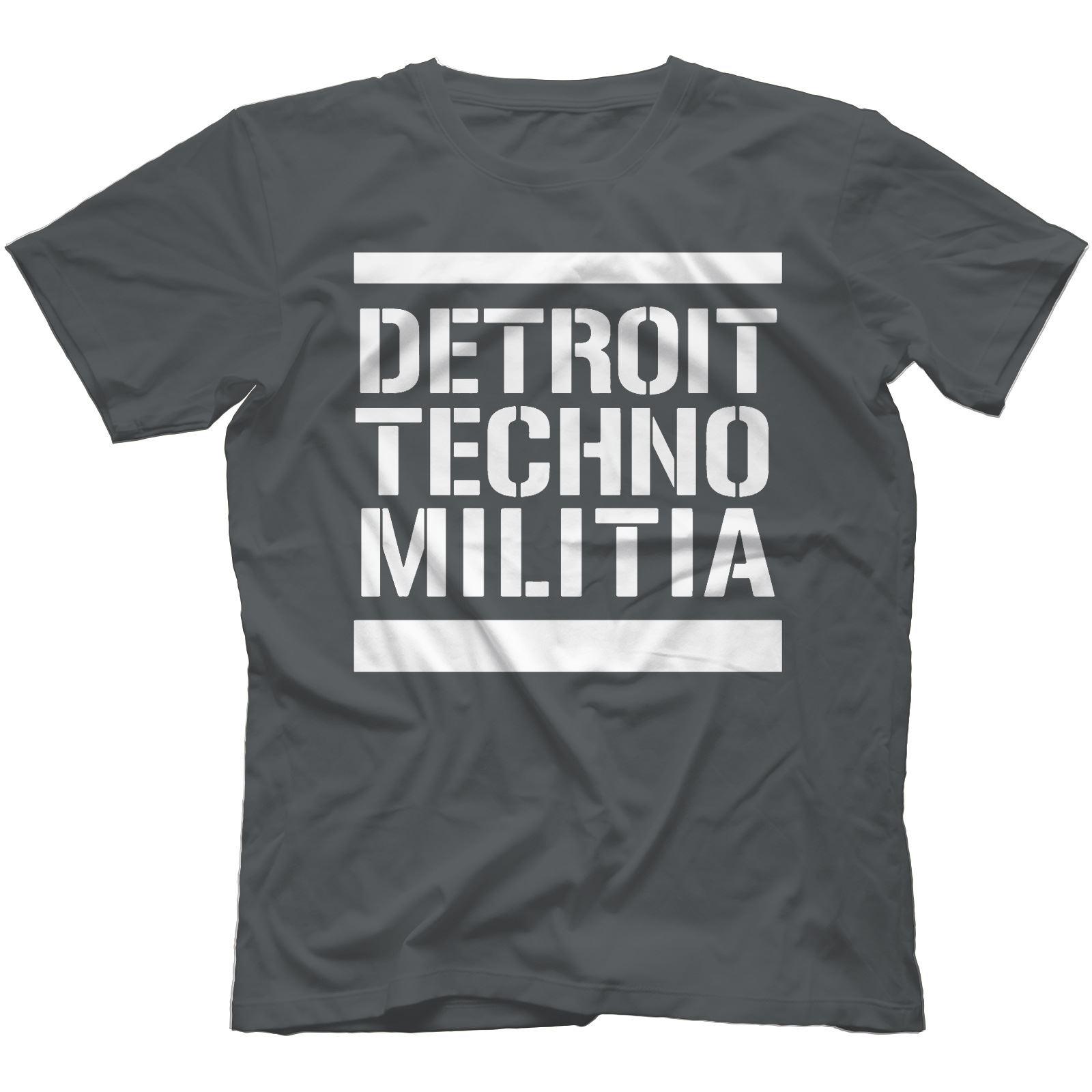 Detroit-Techno-Militia-T-Shirt-100-Cotton-Vinyl-909-Underground-Resistance Indexbild 15