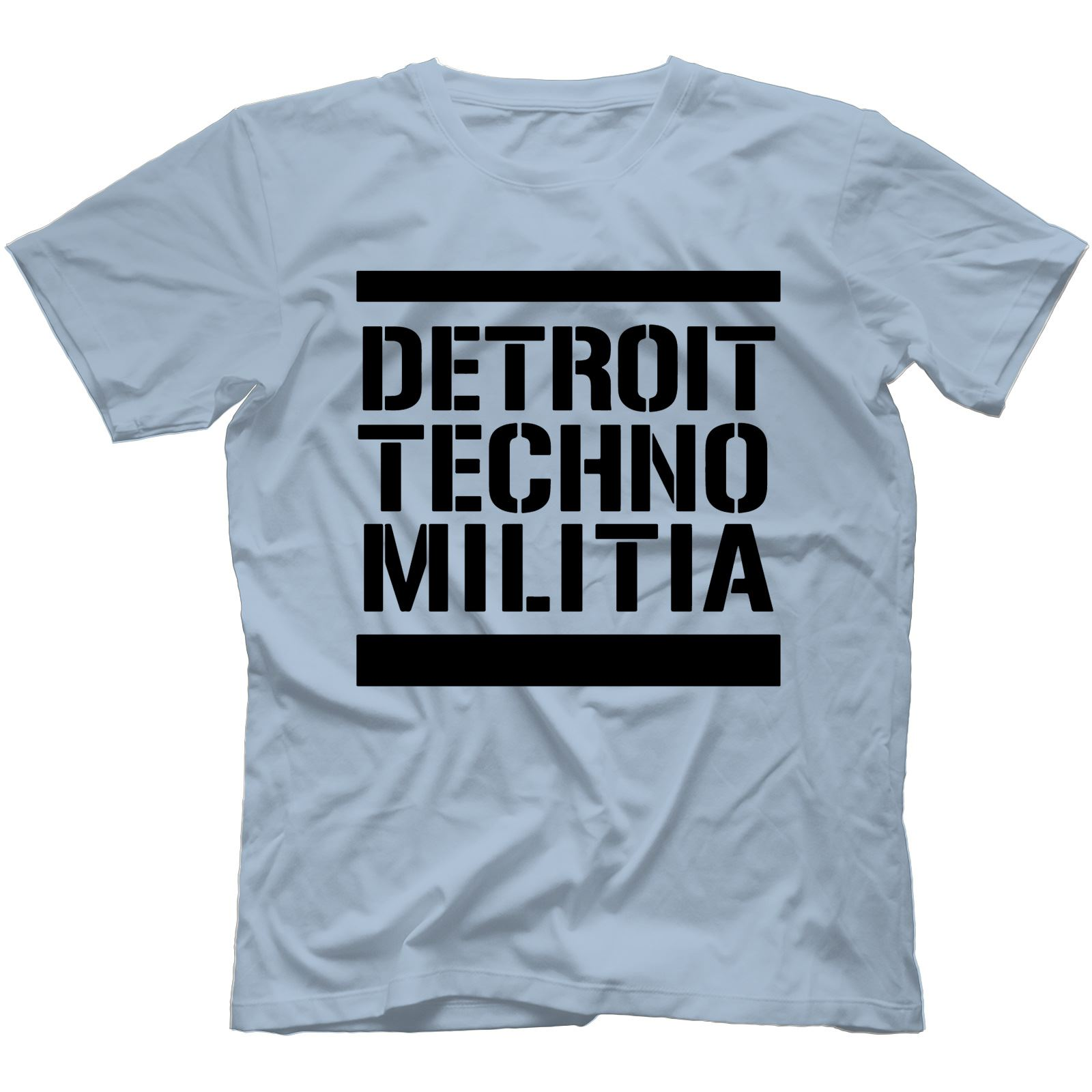 Detroit-Techno-Militia-T-Shirt-100-Cotton-Vinyl-909-Underground-Resistance Indexbild 25