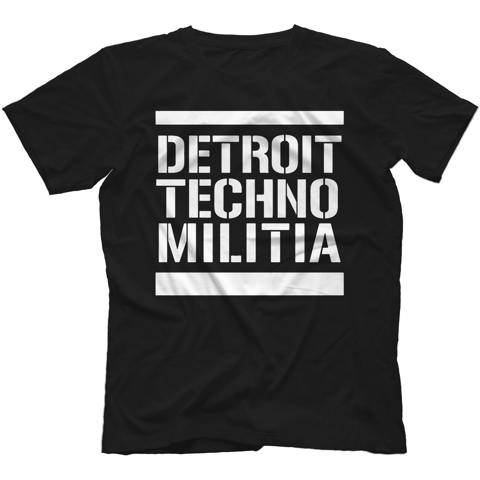 Detroit-Techno-Militia-T-Shirt-100-Cotton-Vinyl-909-Underground-Resistance Indexbild 13