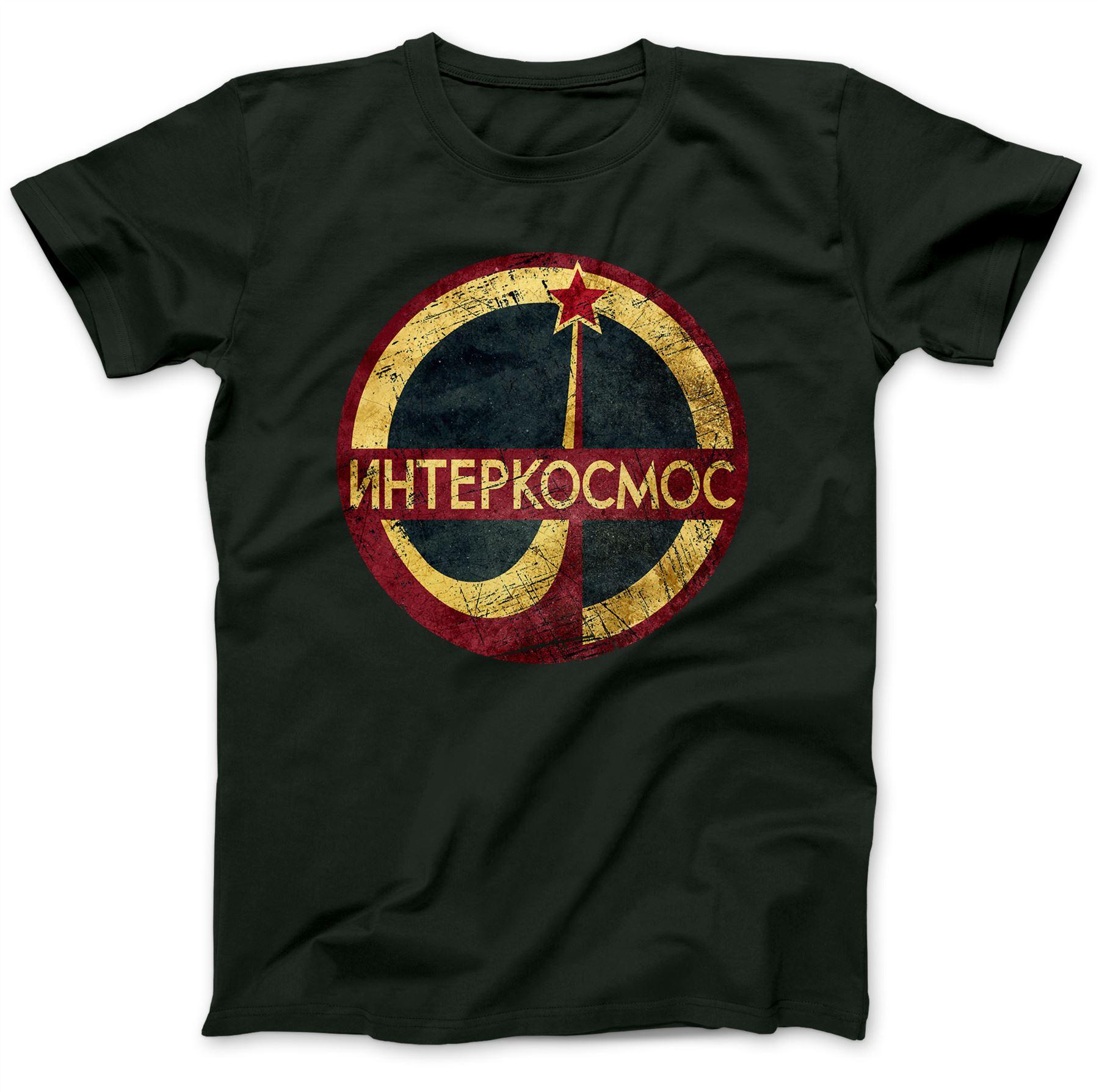 Interkosmos-CCCP-T-Shirt-100-Premium-Cotton-Soviet-Gift-Present
