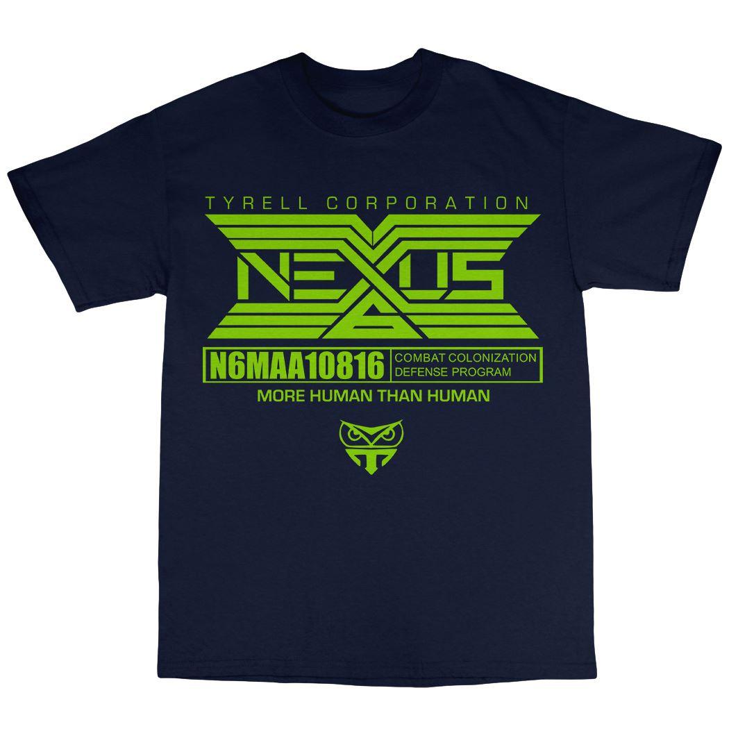 Tyrell Nexus T-Shirt 100/% Cotton Bladerunner Inspired Android Philip K Dick