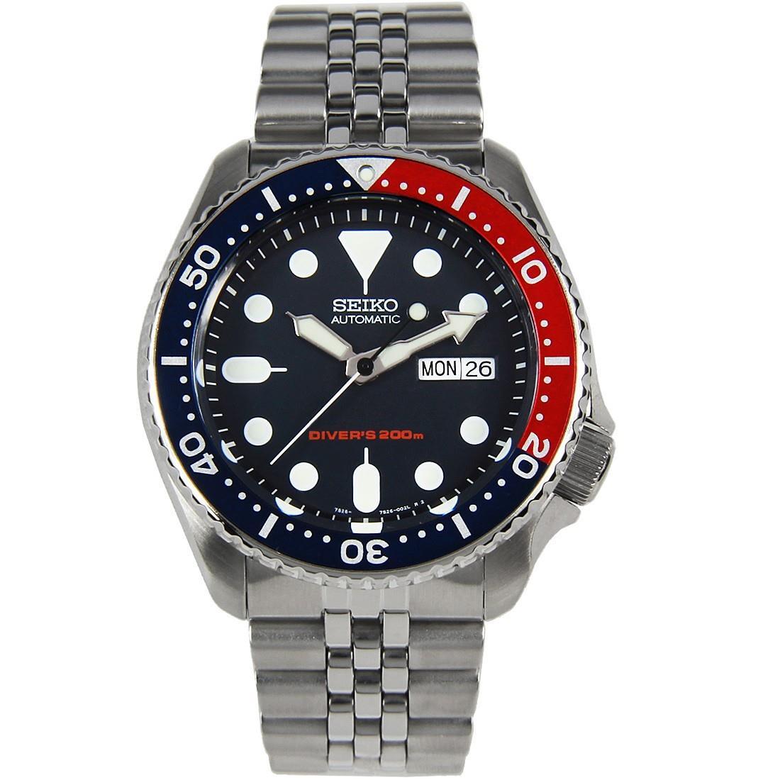 TOP-SELLING-Seiko-SKX009-SKX009J1-SKX009J2-SKX009K1-SKX009K2-Pepsi-Dive-Watch thumbnail 32