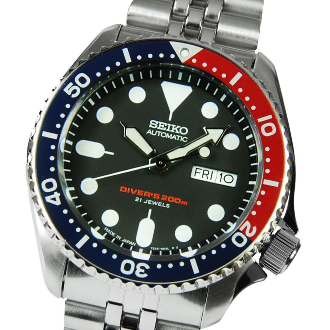 TOP-SELLING-Seiko-SKX009-SKX009J1-SKX009J2-SKX009K1-SKX009K2-Pepsi-Dive-Watch thumbnail 11