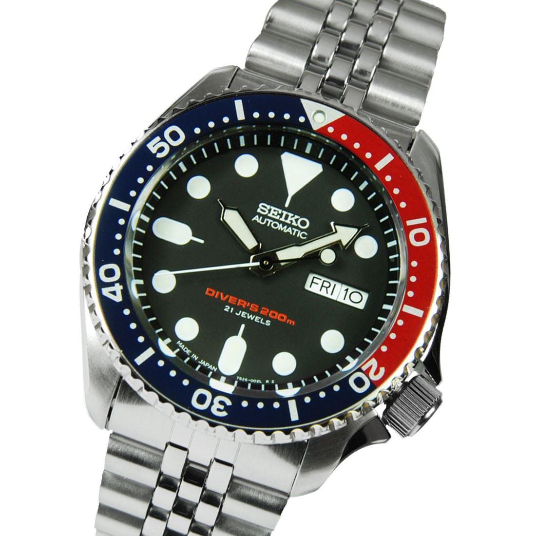 TOP-SELLING-Seiko-SKX009-SKX009J1-SKX009J2-SKX009K1-SKX009K2-Pepsi-Dive-Watch thumbnail 14