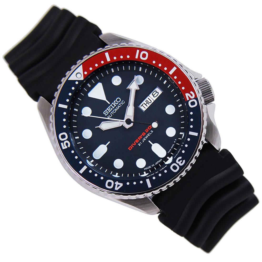 TOP-SELLING-Seiko-SKX009-SKX009J1-SKX009J2-SKX009K1-SKX009K2-Pepsi-Dive-Watch thumbnail 9