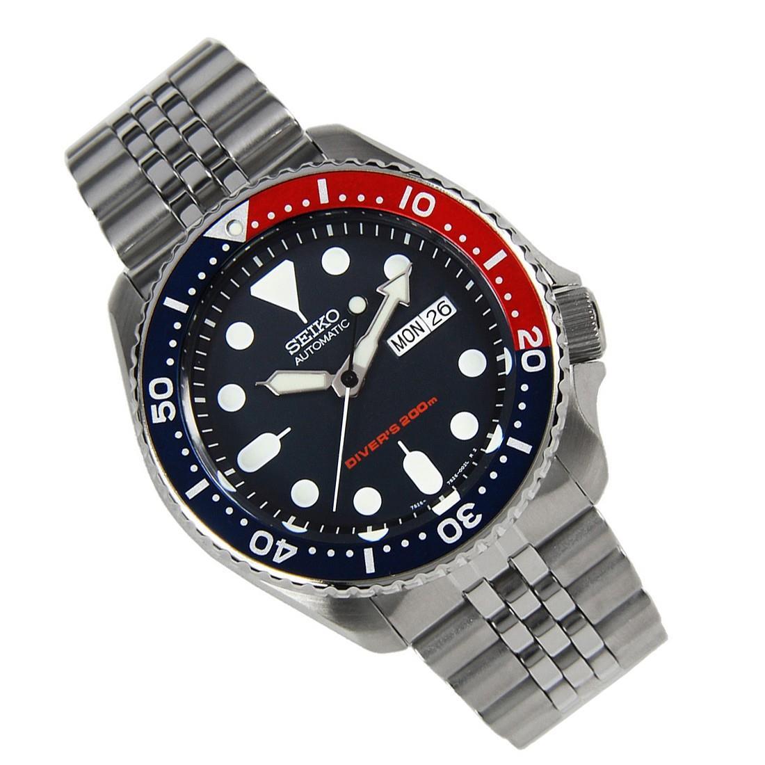 TOP-SELLING-Seiko-SKX009-SKX009J1-SKX009J2-SKX009K1-SKX009K2-Pepsi-Dive-Watch thumbnail 34