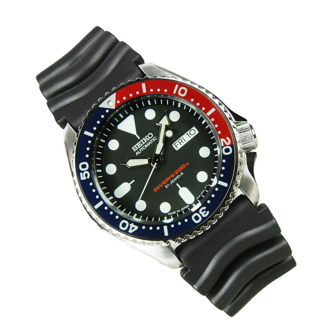 TOP-SELLING-Seiko-SKX009-SKX009J1-SKX009J2-SKX009K1-SKX009K2-Pepsi-Dive-Watch thumbnail 4