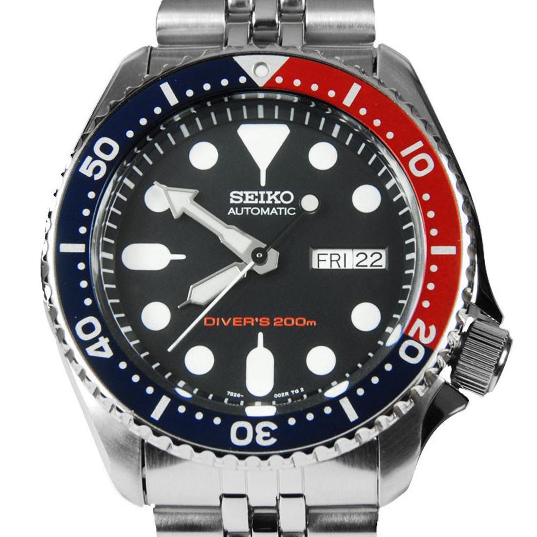 TOP-SELLING-Seiko-SKX009-SKX009J1-SKX009J2-SKX009K1-SKX009K2-Pepsi-Dive-Watch thumbnail 30