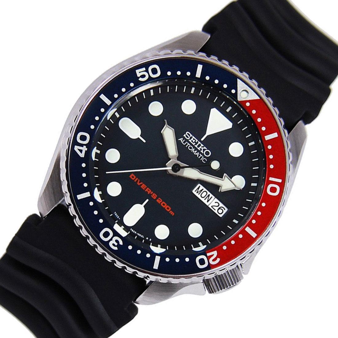 TOP-SELLING-Seiko-SKX009-SKX009J1-SKX009J2-SKX009K1-SKX009K2-Pepsi-Dive-Watch thumbnail 25