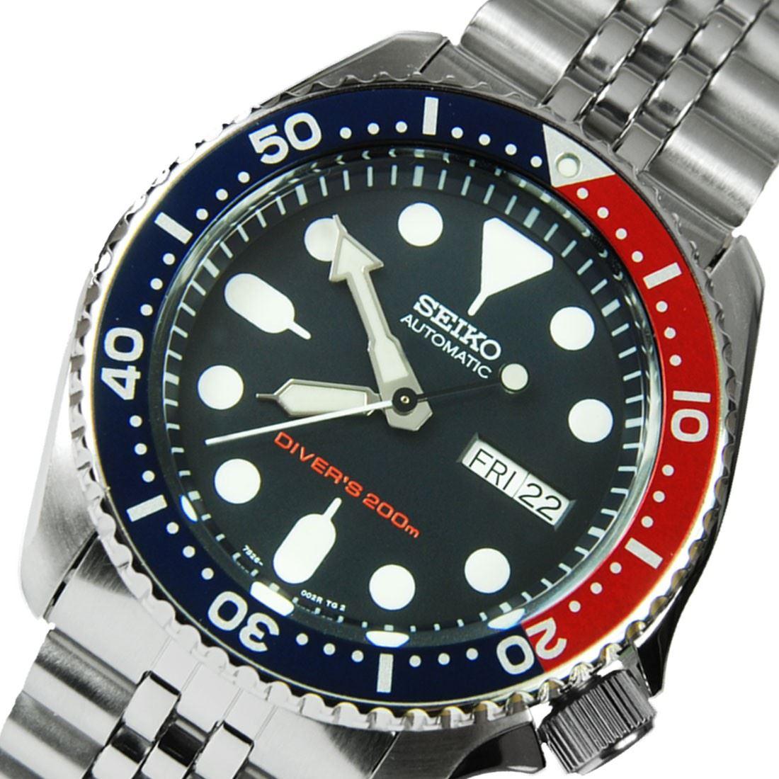 TOP-SELLING-Seiko-SKX009-SKX009J1-SKX009J2-SKX009K1-SKX009K2-Pepsi-Dive-Watch thumbnail 29