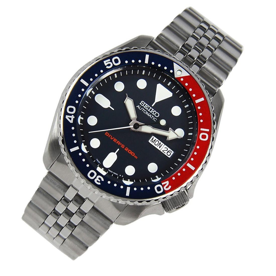 TOP-SELLING-Seiko-SKX009-SKX009J1-SKX009J2-SKX009K1-SKX009K2-Pepsi-Dive-Watch thumbnail 33