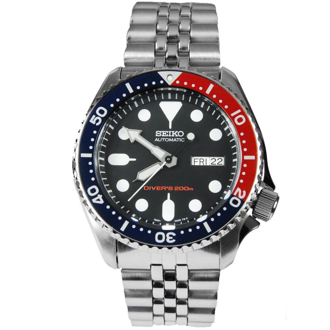 TOP-SELLING-Seiko-SKX009-SKX009J1-SKX009J2-SKX009K1-SKX009K2-Pepsi-Dive-Watch thumbnail 28