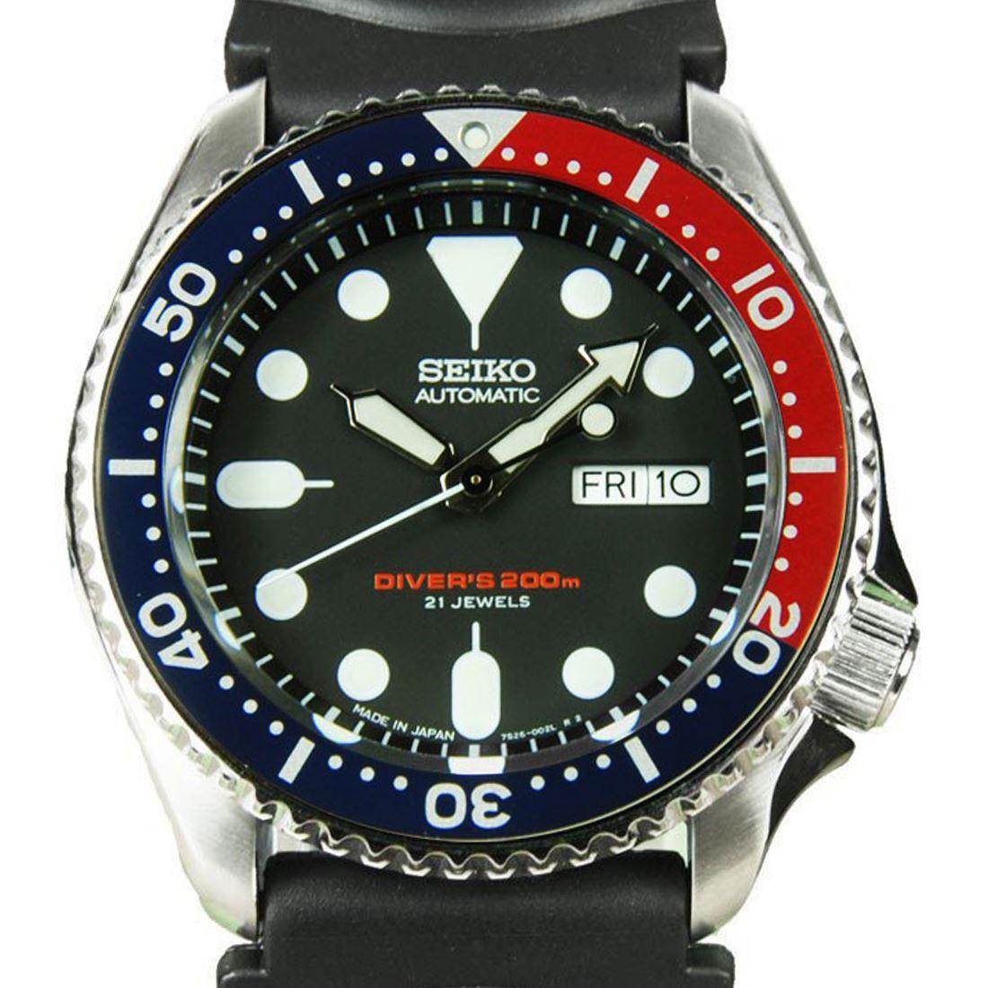 TOP-SELLING-Seiko-SKX009-SKX009J1-SKX009J2-SKX009K1-SKX009K2-Pepsi-Dive-Watch thumbnail 5