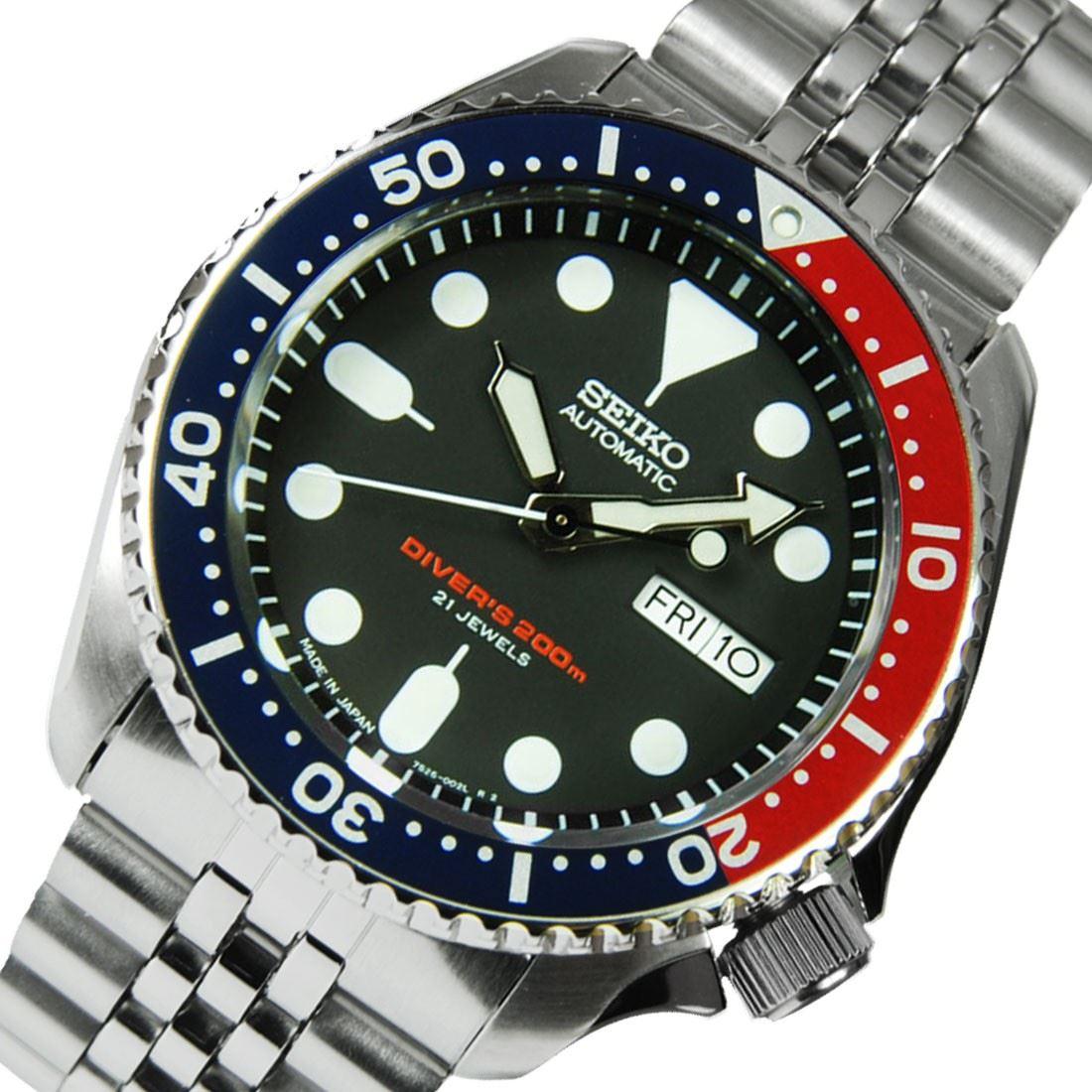 TOP-SELLING-Seiko-SKX009-SKX009J1-SKX009J2-SKX009K1-SKX009K2-Pepsi-Dive-Watch thumbnail 13