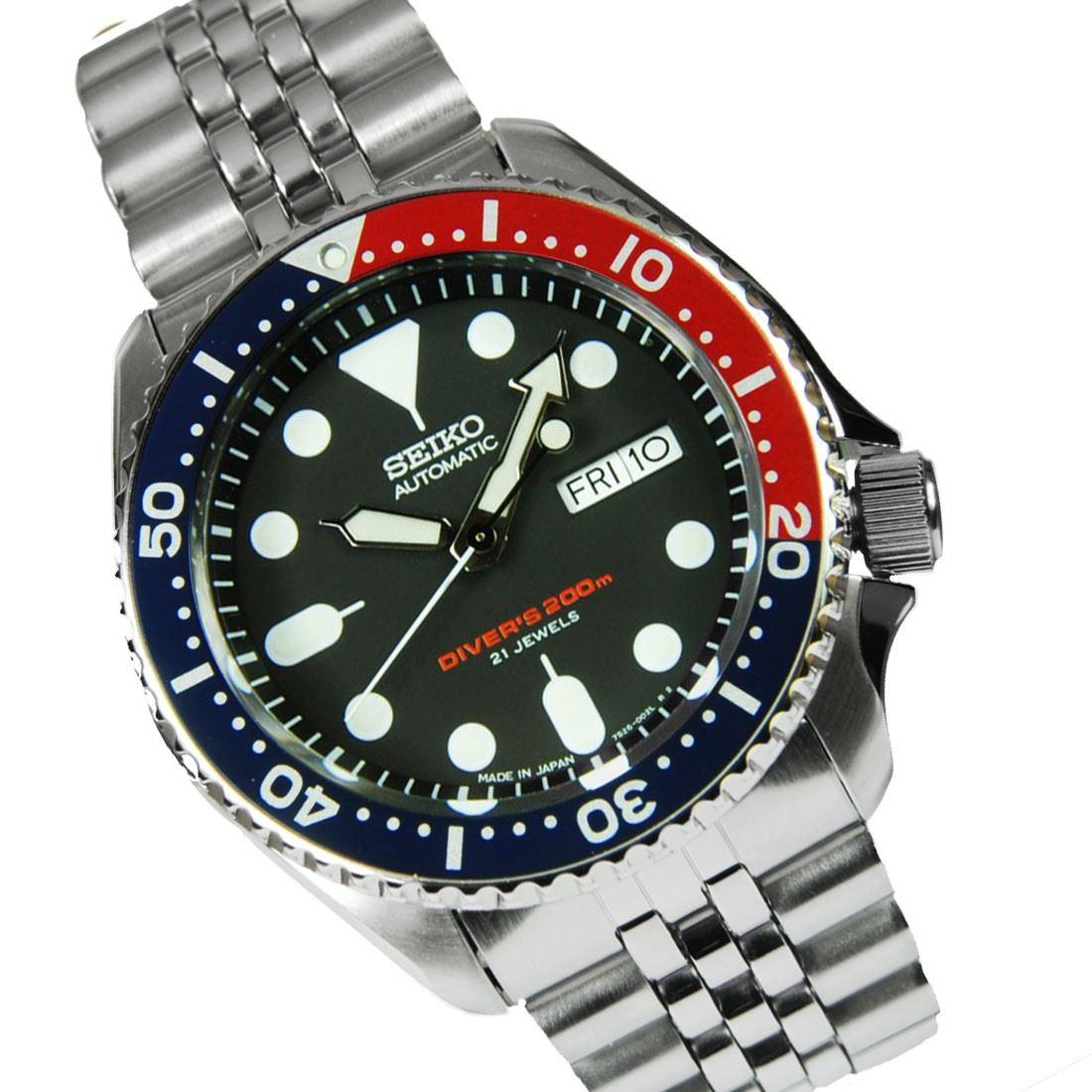 TOP-SELLING-Seiko-SKX009-SKX009J1-SKX009J2-SKX009K1-SKX009K2-Pepsi-Dive-Watch thumbnail 15