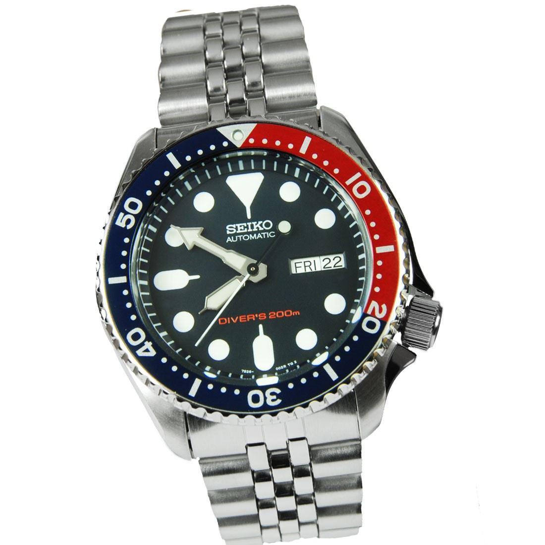 TOP-SELLING-Seiko-SKX009-SKX009J1-SKX009J2-SKX009K1-SKX009K2-Pepsi-Dive-Watch thumbnail 31